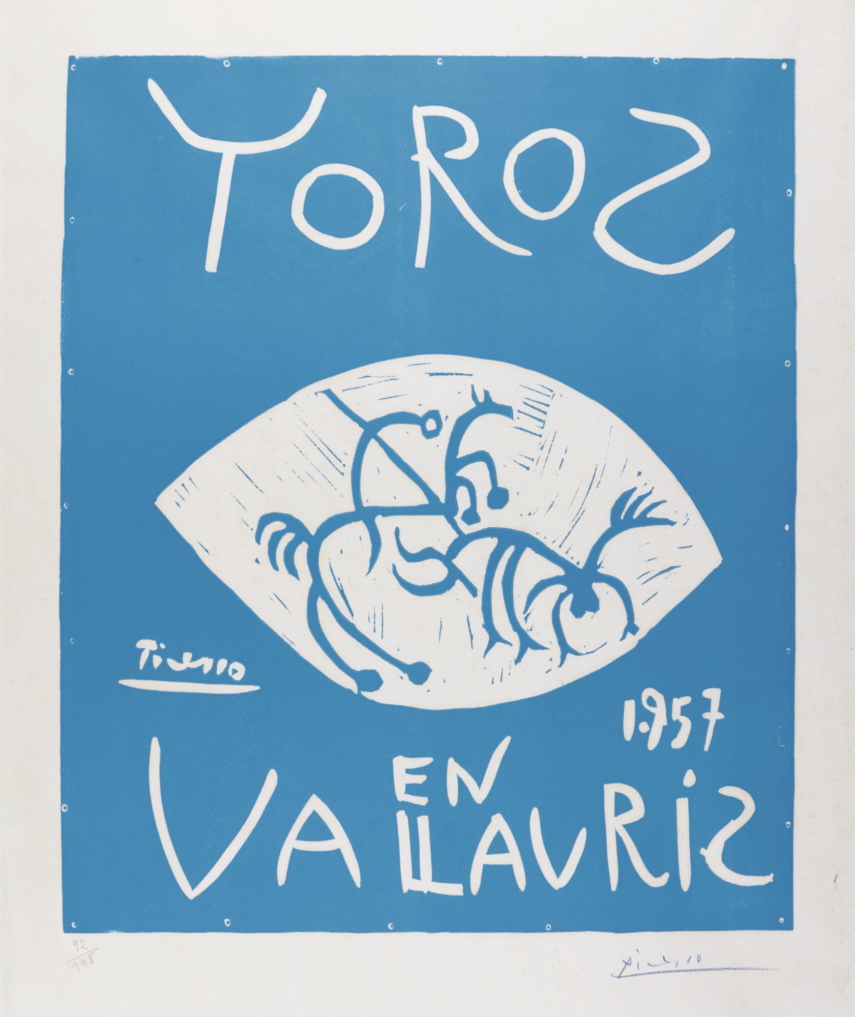 Pablo Picasso-Toros En Vallauris 1957 (B. 1276; Ba. 1045; Cz. 23)-1957