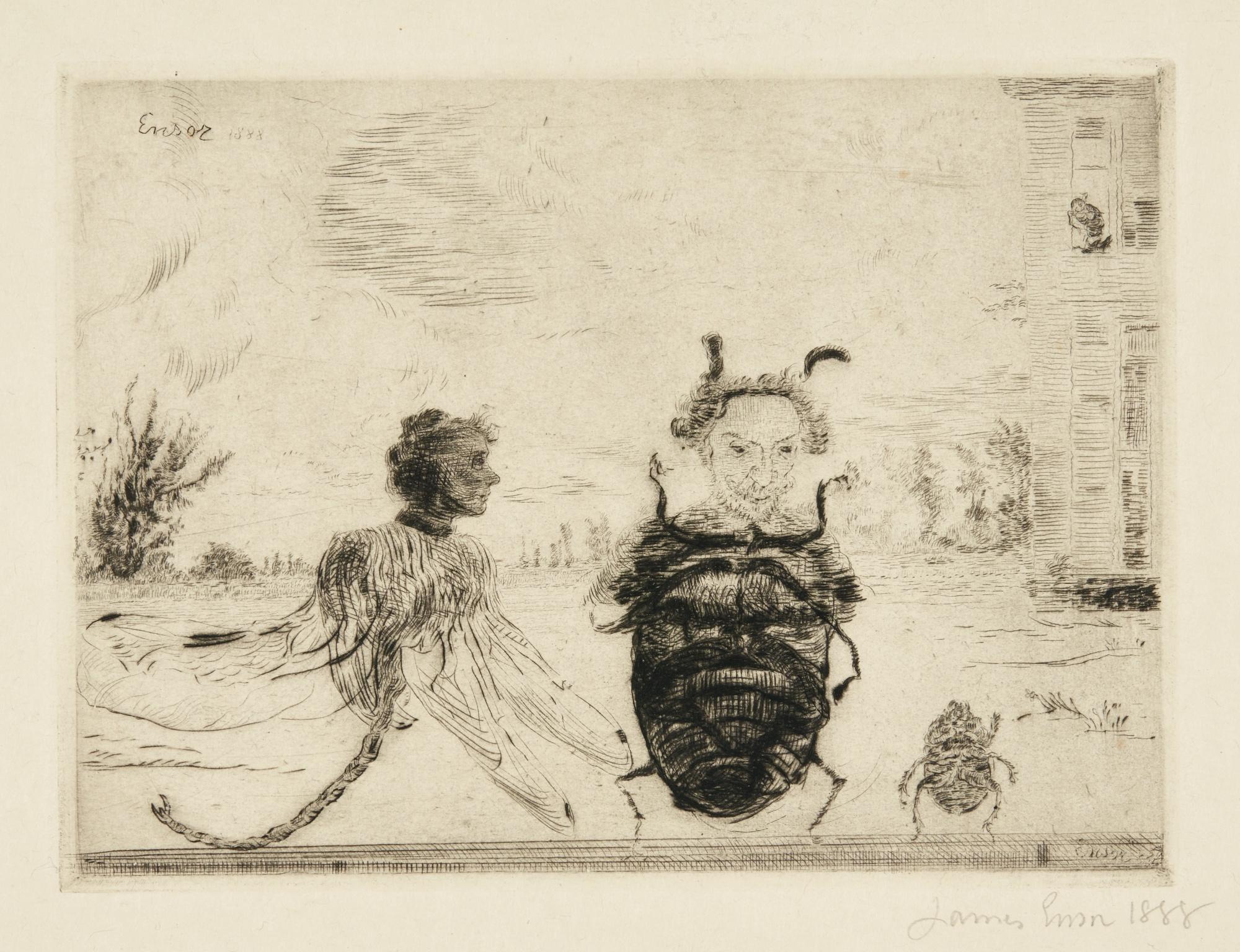 James Ensor-Insectes Singuliers (D. T. E.46)-1888