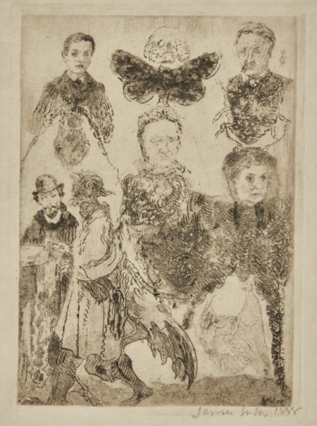 James Ensor-Petites Figures Bizarres(D. T.E.53)-1888
