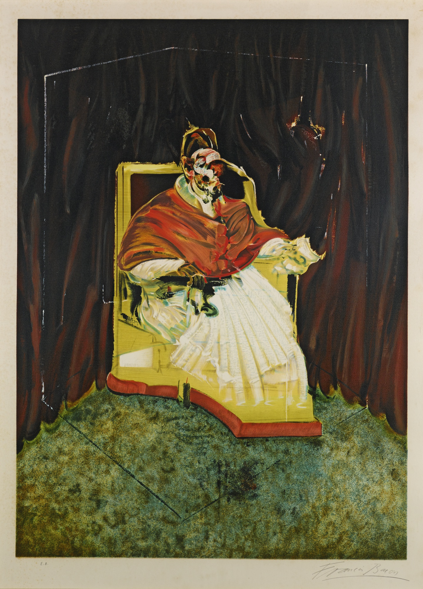 Francis Bacon-Study For Portrait Of Pope Innocent X After Velasquez (S. 14)-1989