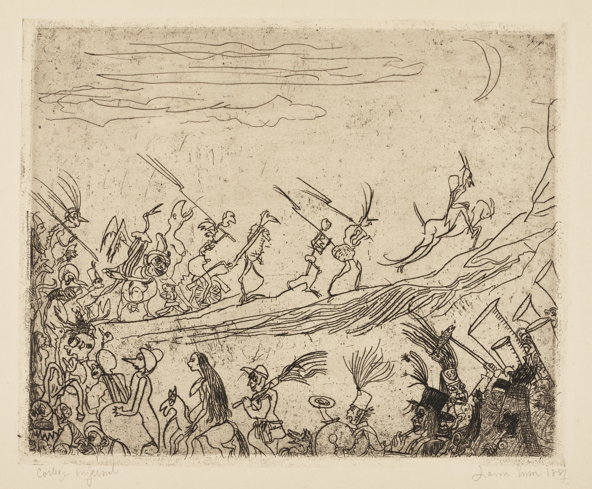 James Ensor-Le CortÈGe Infernal(D. T.10; E. 9)-1887