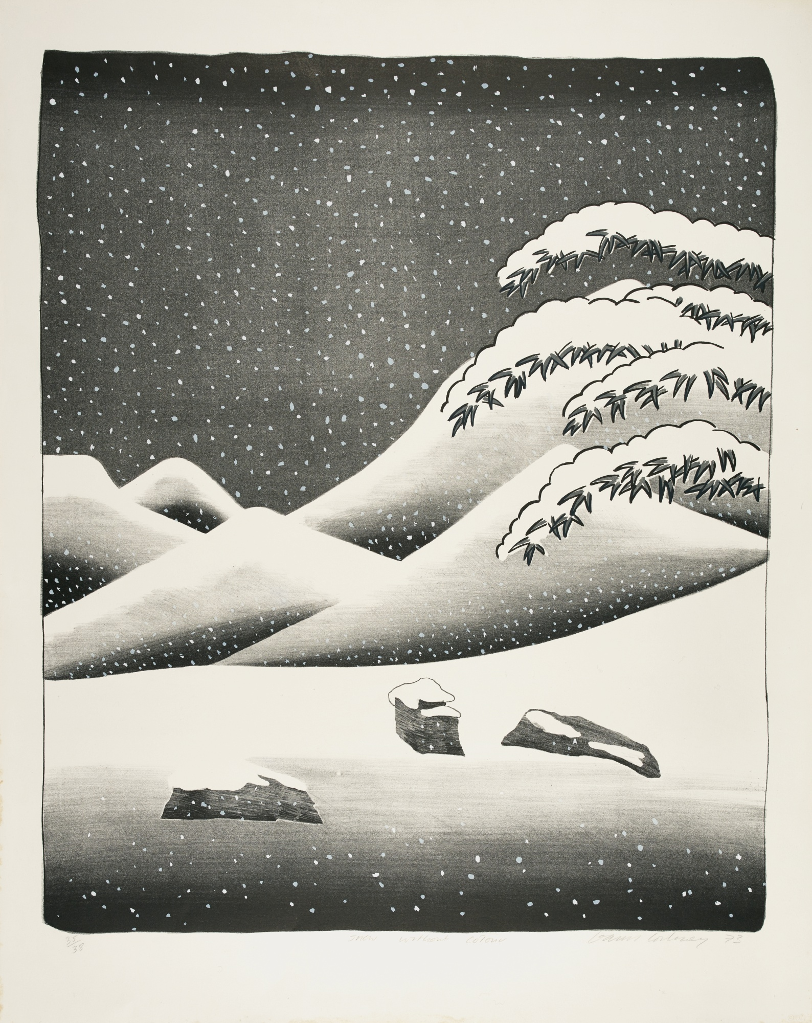 David Hockney-Snow Without Colour (S. A .C. 135; Mca Tokyo 126)-1973
