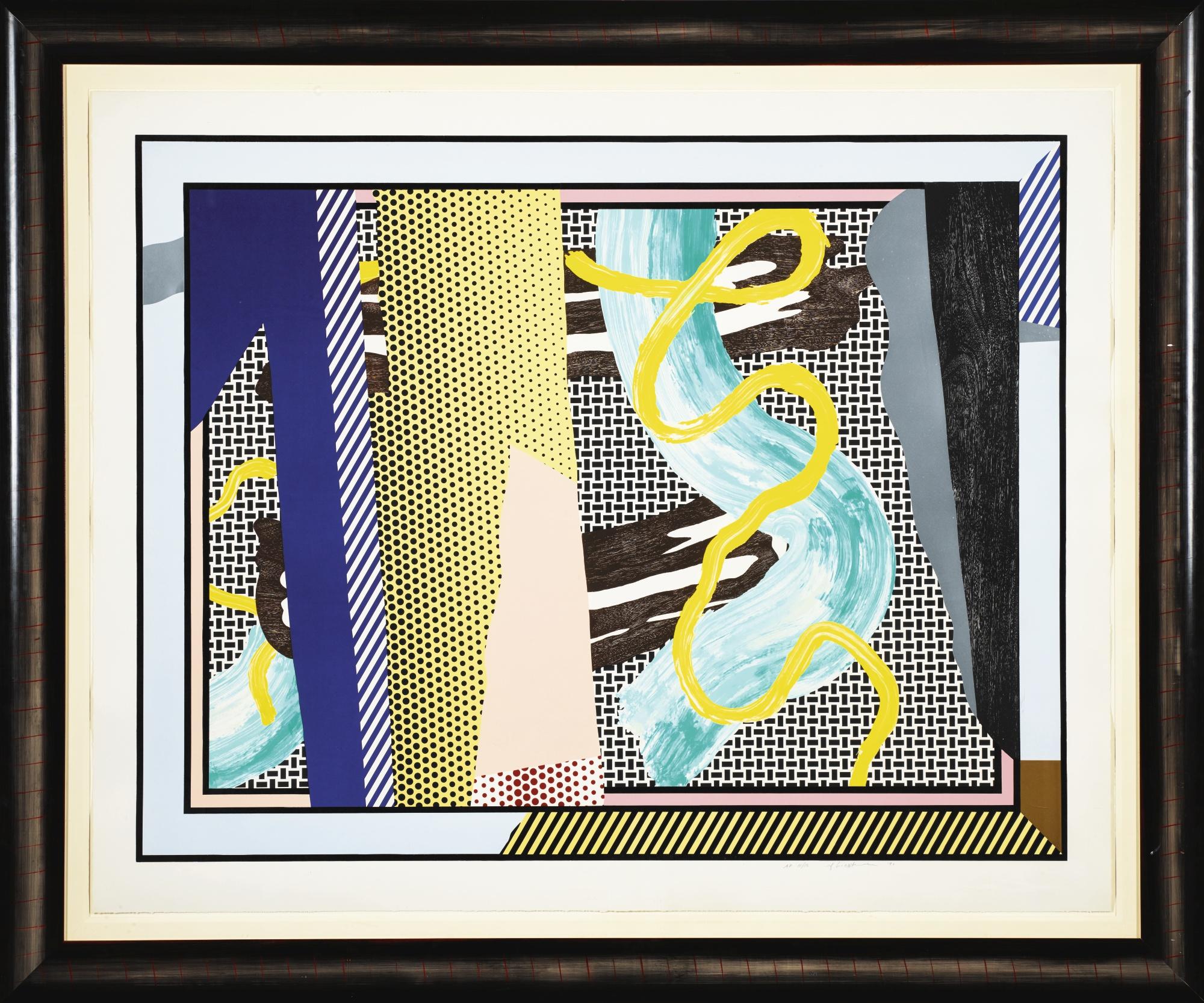 Roy Lichtenstein-Reflections On Brushstrokes (C. 242)-1990