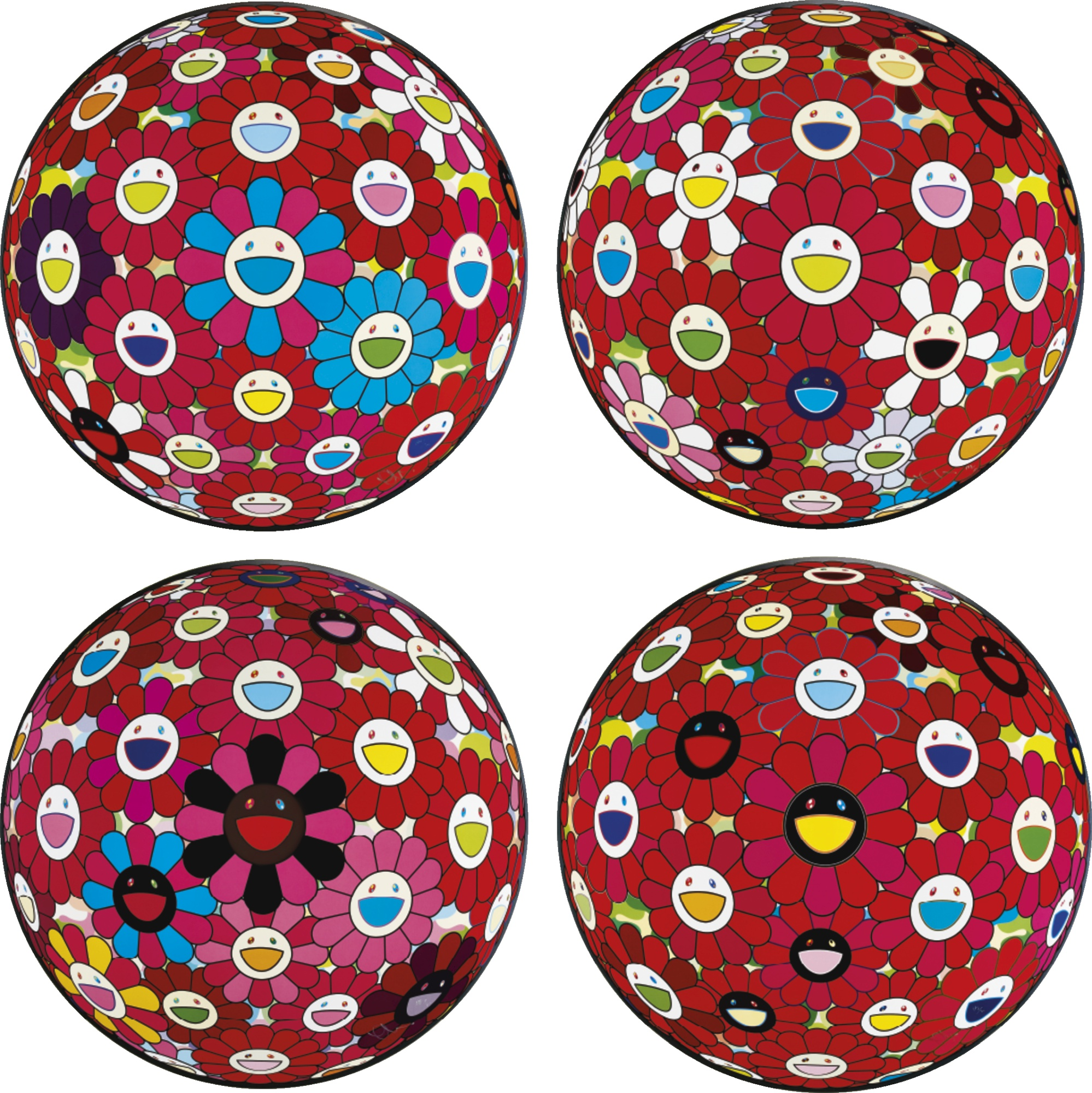 Takashi Murakami-A Collection Of Ten Flowerball Prints-2014