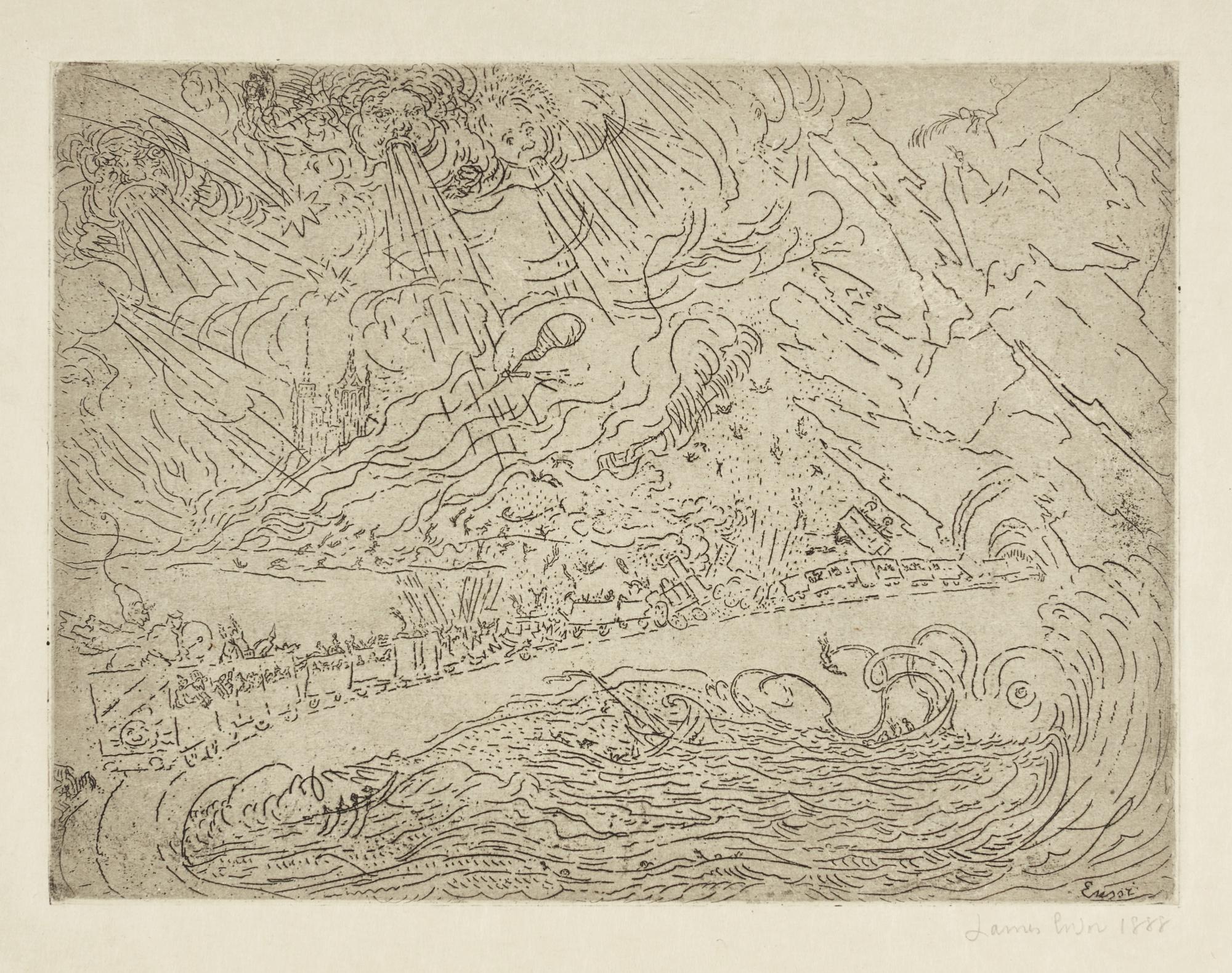 James Ensor-LesCataclysmes (D. T. E.37)-1888