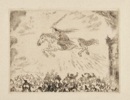 James Ensor-Prise D'Une Ville ÉTrange; AndL'Ange Exterminateur (D. T. E. 33 77)-1889