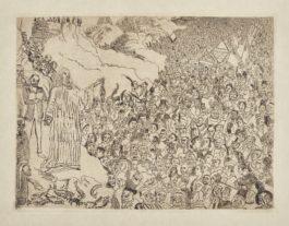 James Ensor-Le Christ InsultÉ; L'EcorchÉ; And La Multiplication Des Poissons (D. T. E.1 57 85)-1886