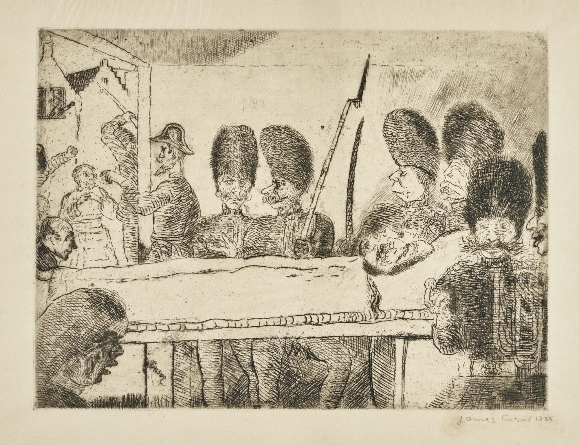 James Ensor-Les Gendarmes (D.T. E.55)-1888