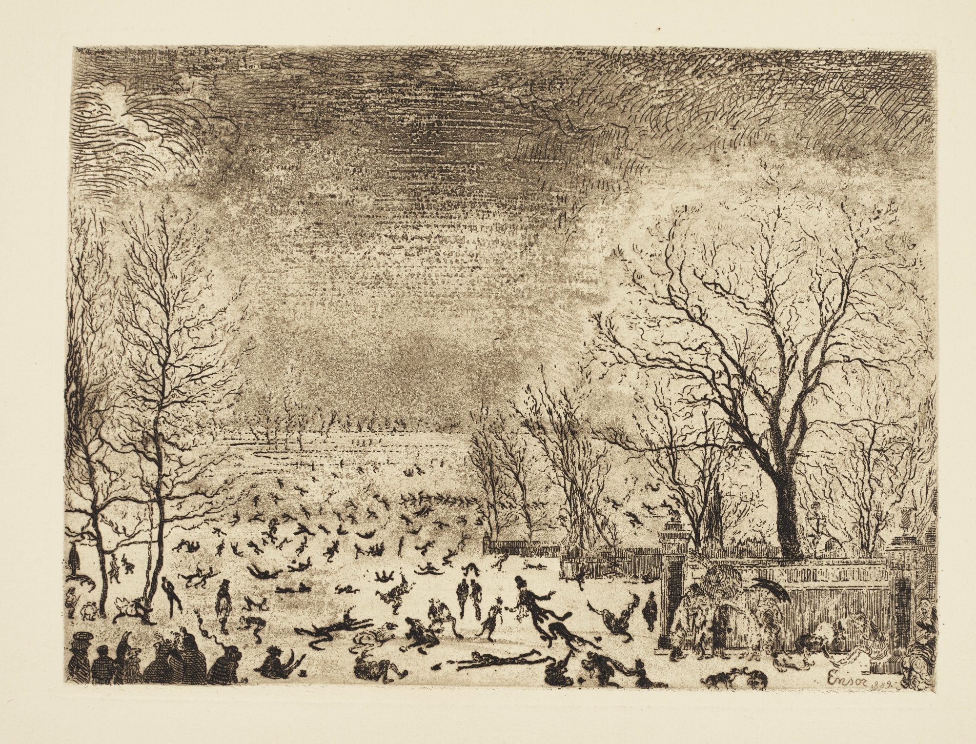 James Ensor-Les Patineurs (D. T. E.65)-1889