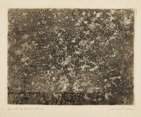 James Ensor-Les ÉToiles Au CimetiÈRe (D. T. E. 56)-1888