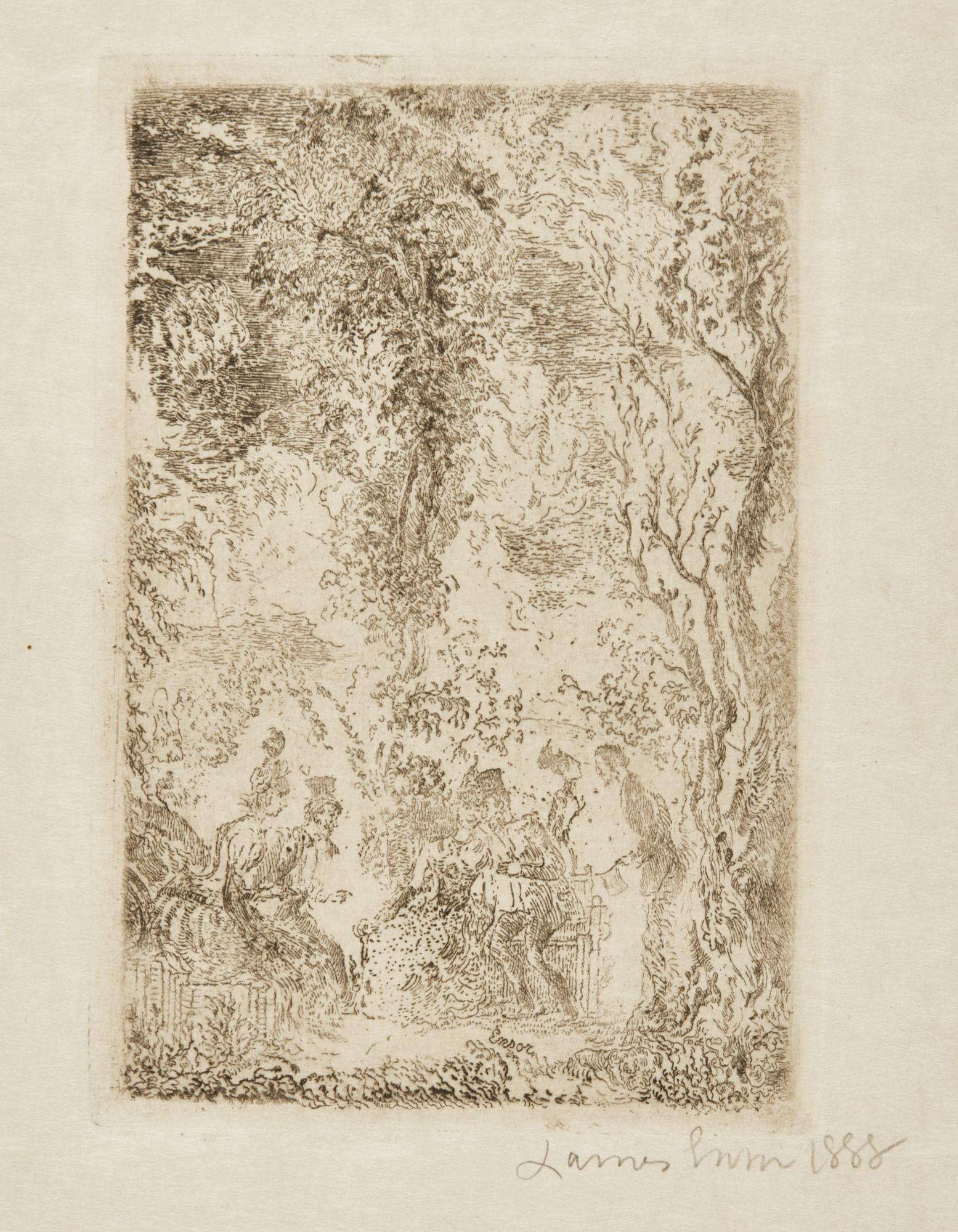 James Ensor-Jardin D'Amour (D. T. E.61)-1888