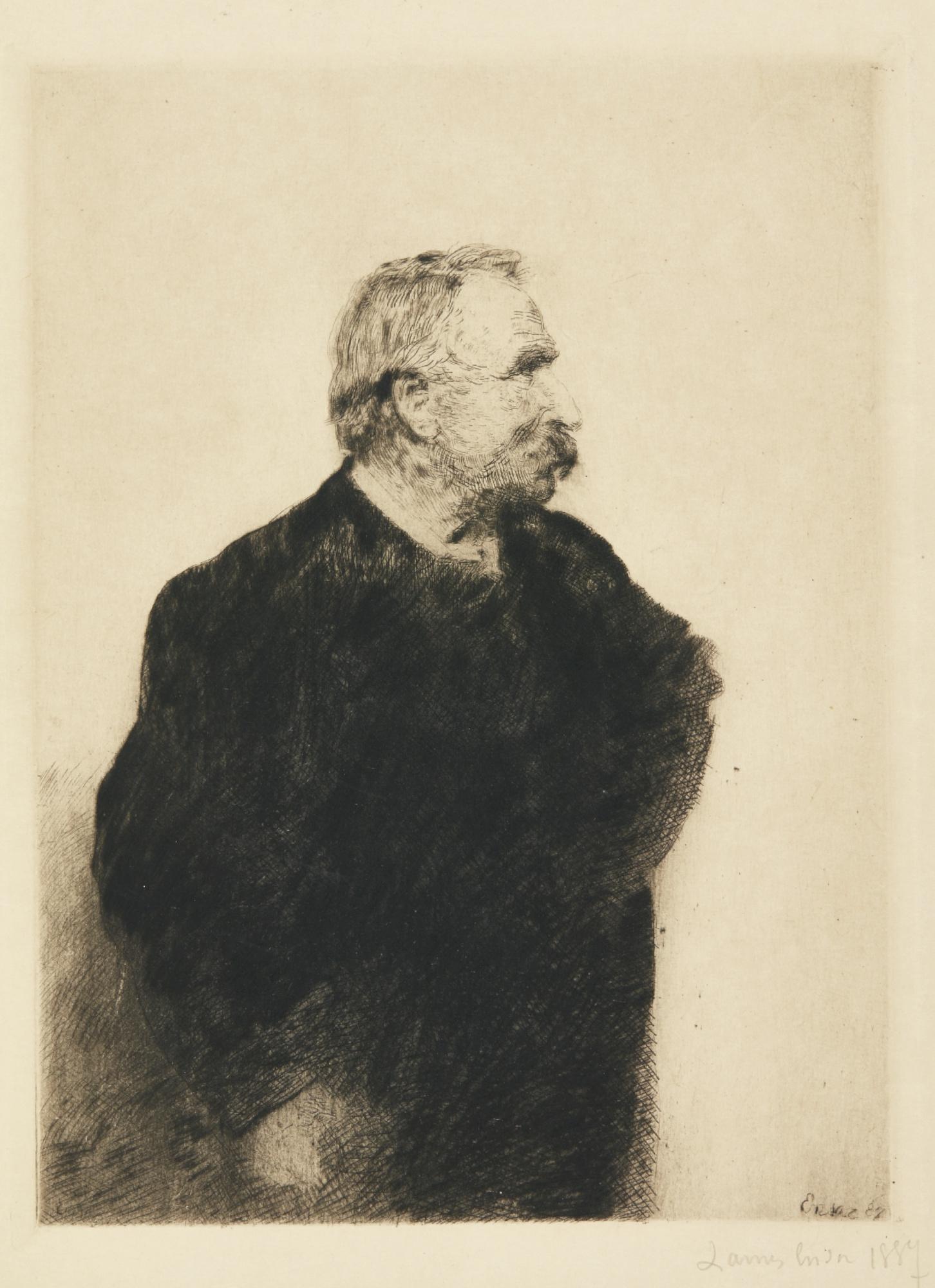 James Ensor-Le Botaniste Scandive Frise; Ernest Rousseau (D. T. E. 3 11); And Portrait DeHector Denis (D. T.82; E. 84)-1890