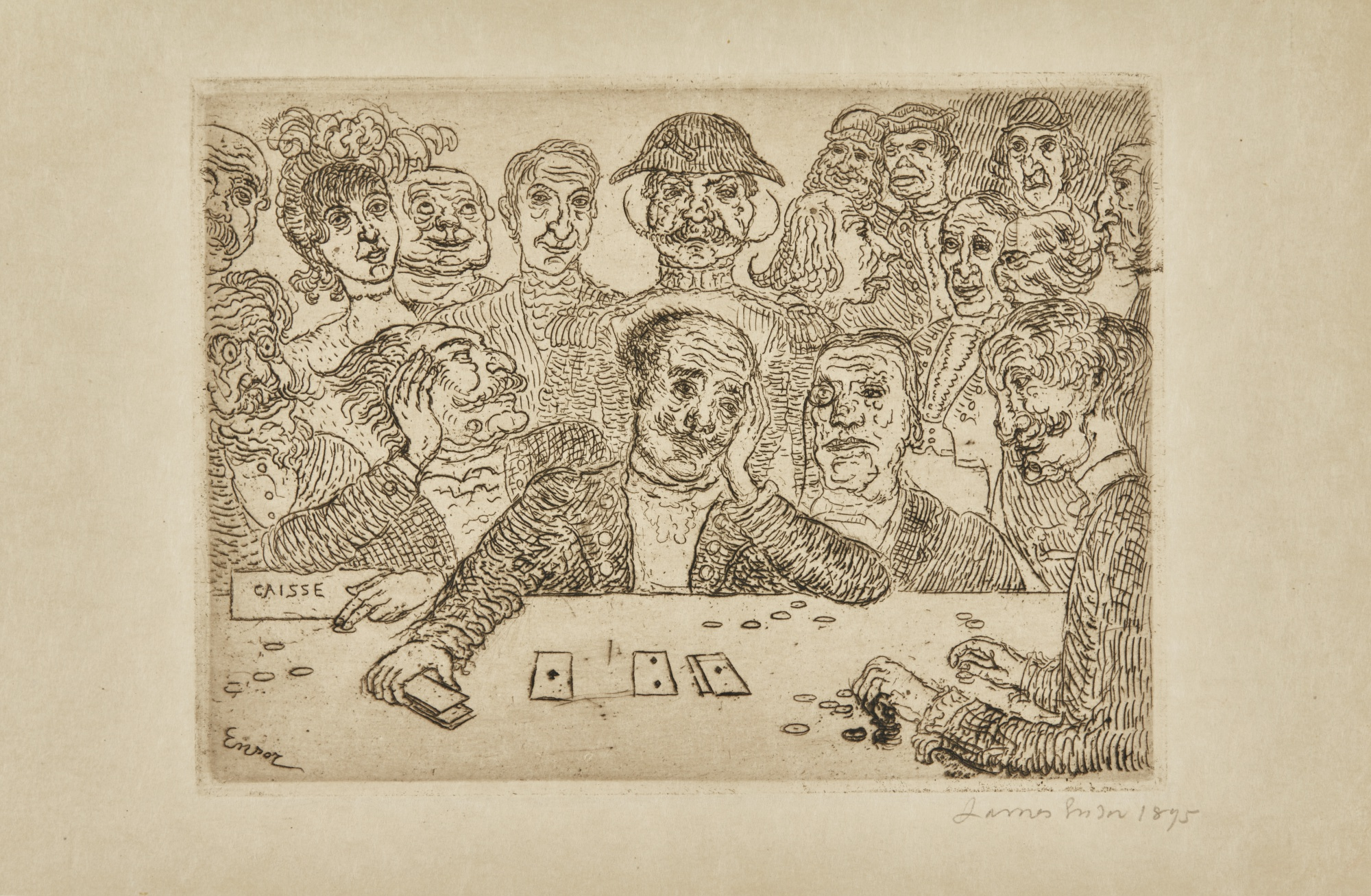 James Ensor-Les Joueurs (D. 92; T. 93; E. 94)-1895