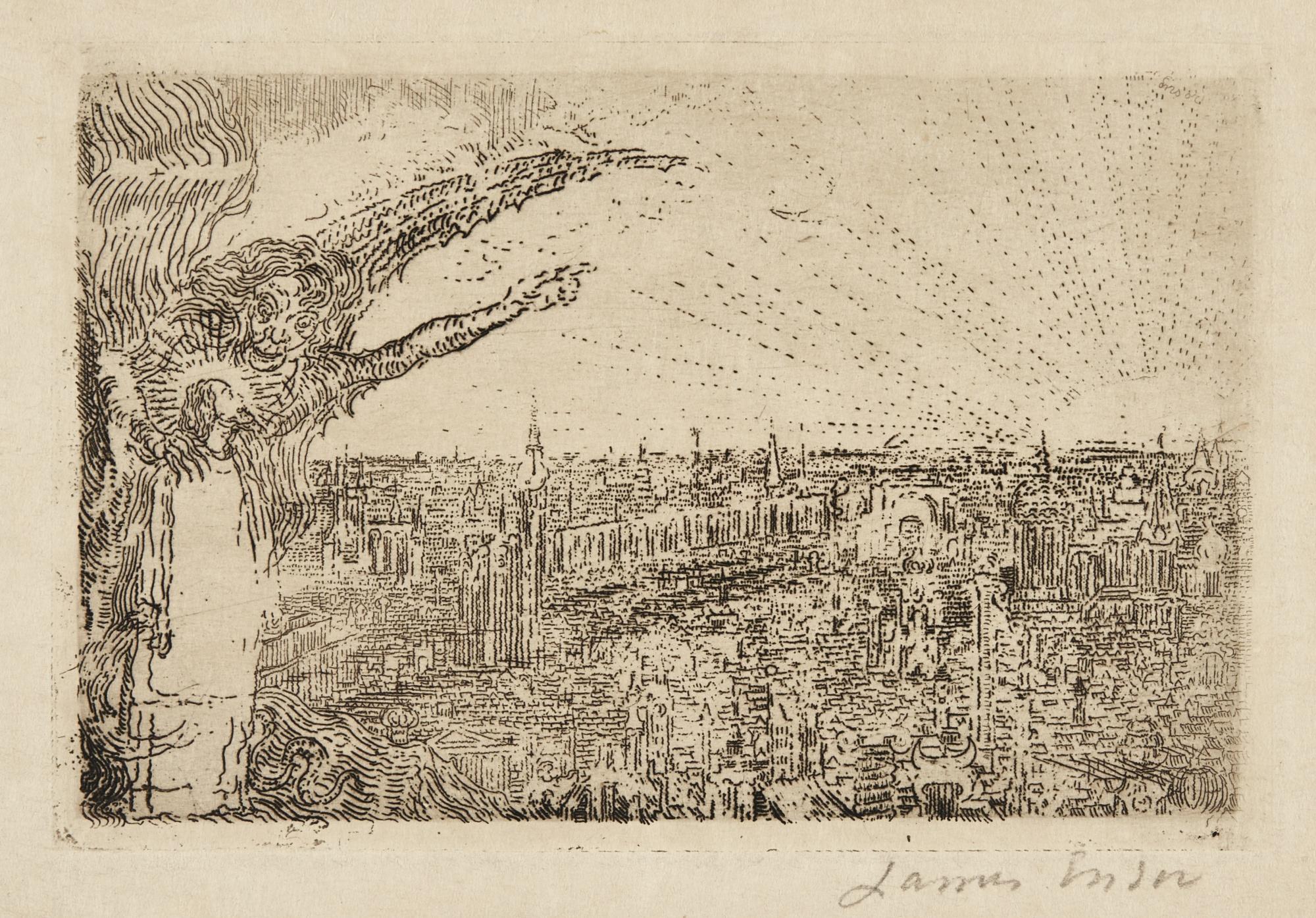 James Ensor-L'Adoration Des Bergers; Le Tentation Du Christ (D. T. E.58 60); And Le Christ Aux Mendiants (D. T. 102; E. 103)-1888