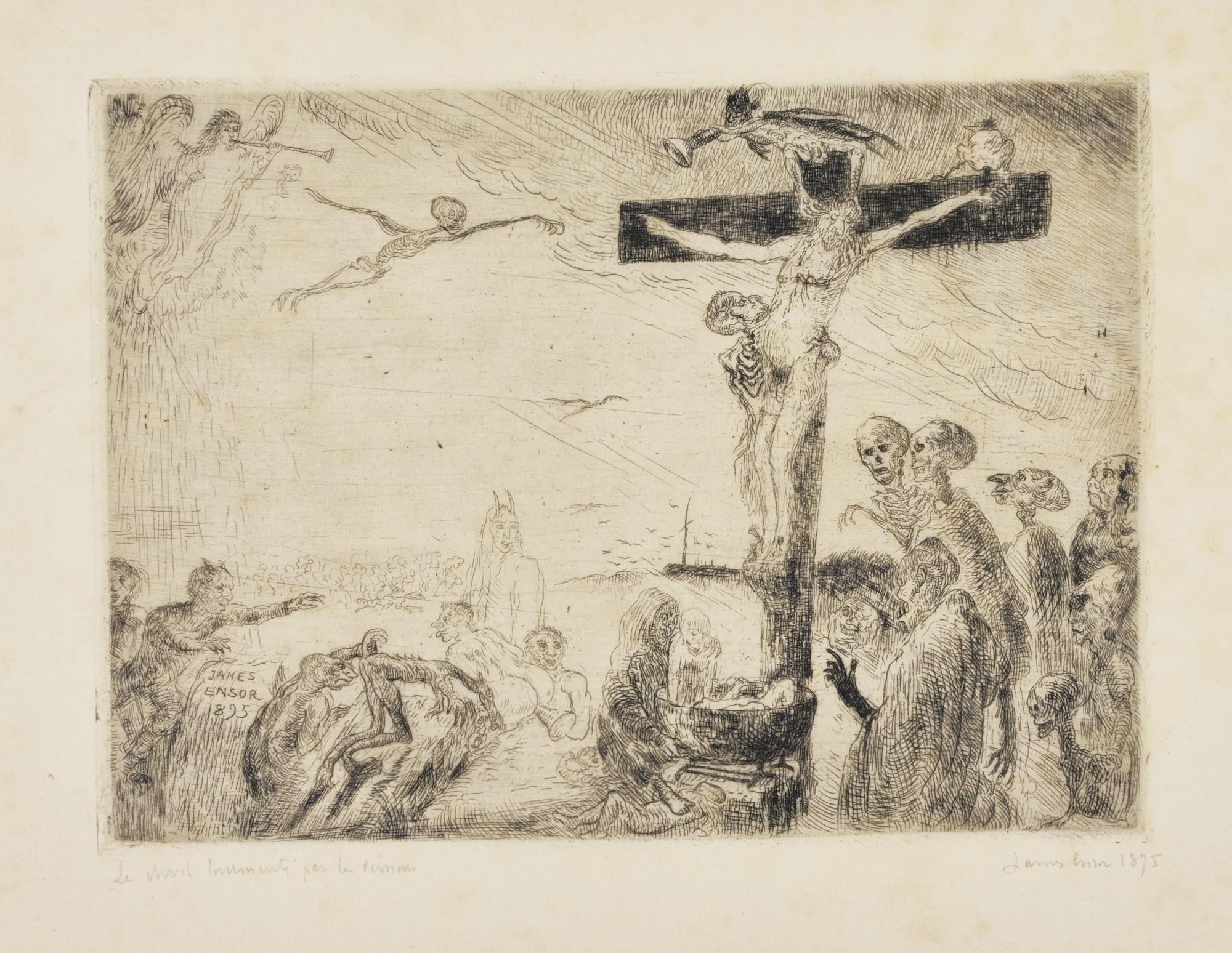 James Ensor-Le Christ TourmentÉ Par Les DÉMons (D. 93; T. 94; E. 96)-1895