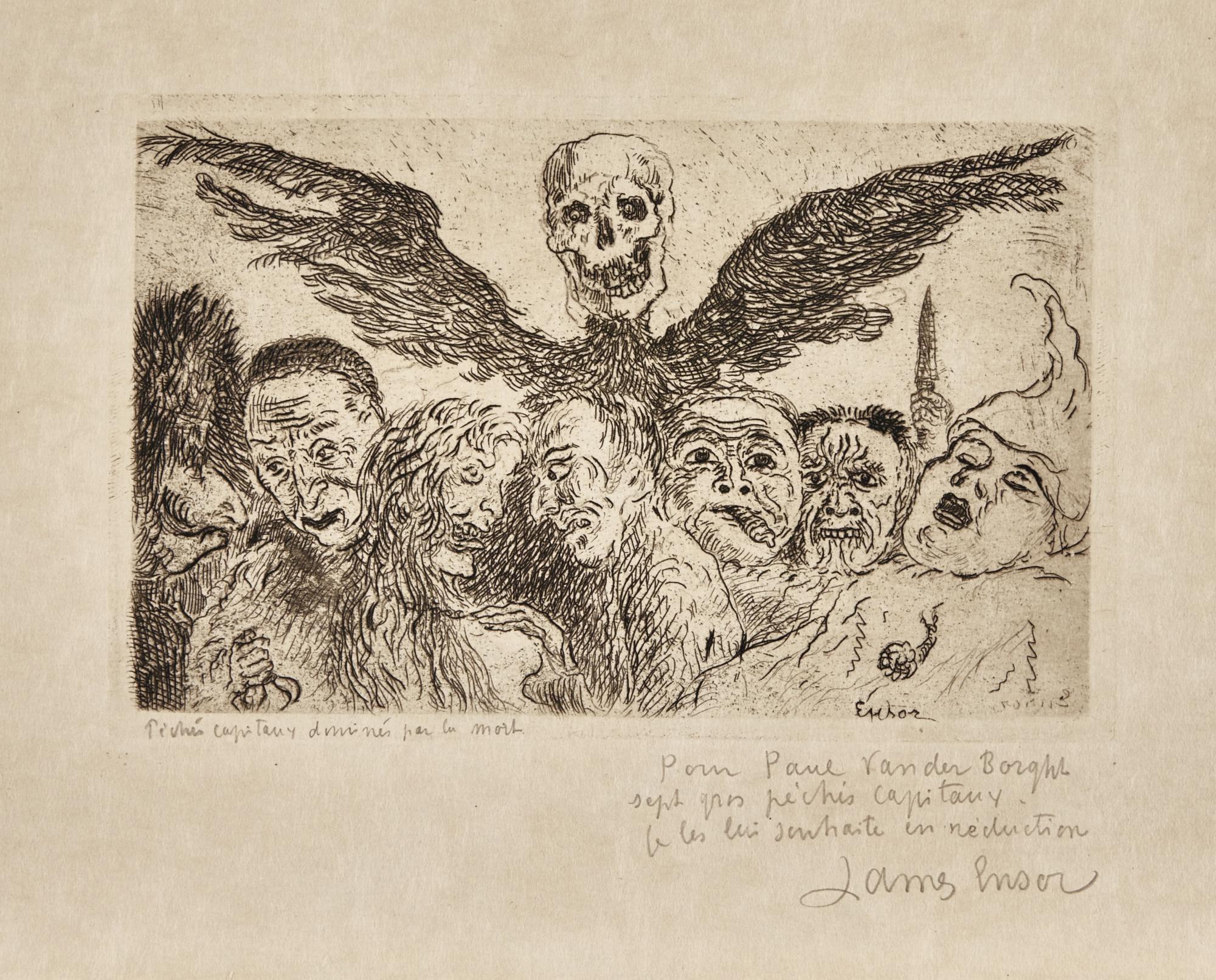 James Ensor-Les PÉChÉS Capitaux DominÉS Par La Mort (D.T. 126; E. 131)-1904
