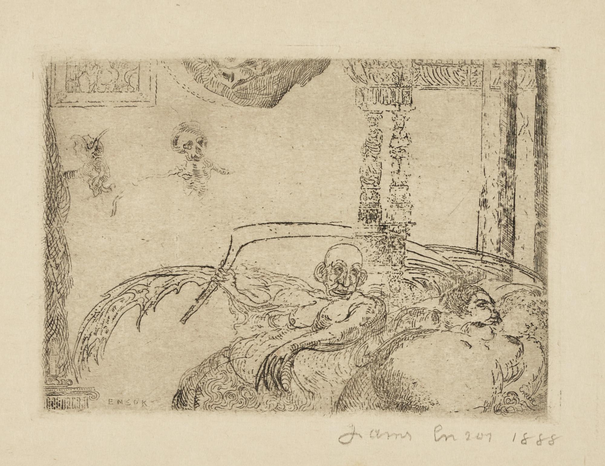 James Ensor-La Luxure(D. T. E. 59)-1888