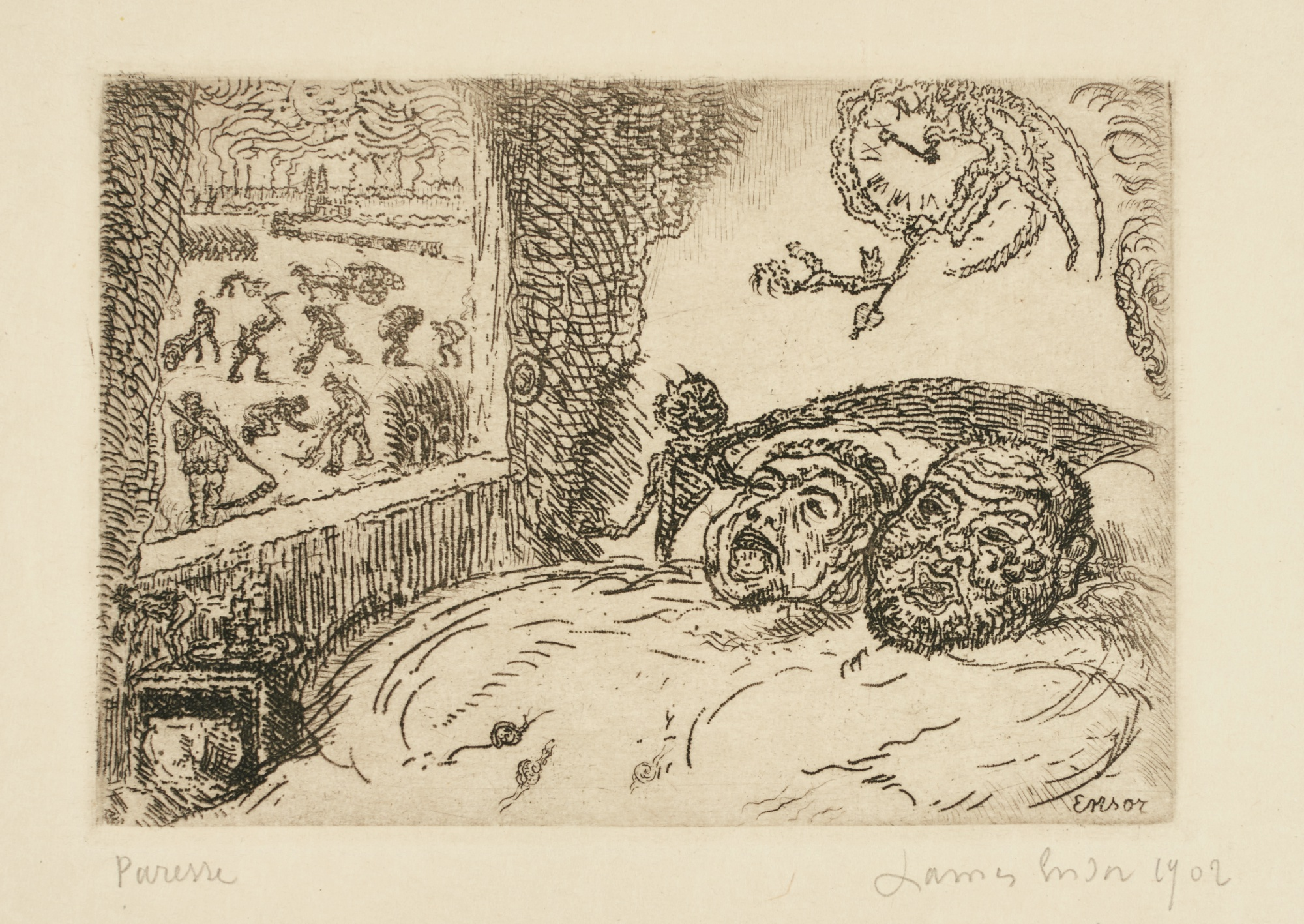 James Ensor-La Paresse (D. T. 119; E. 124)-1902