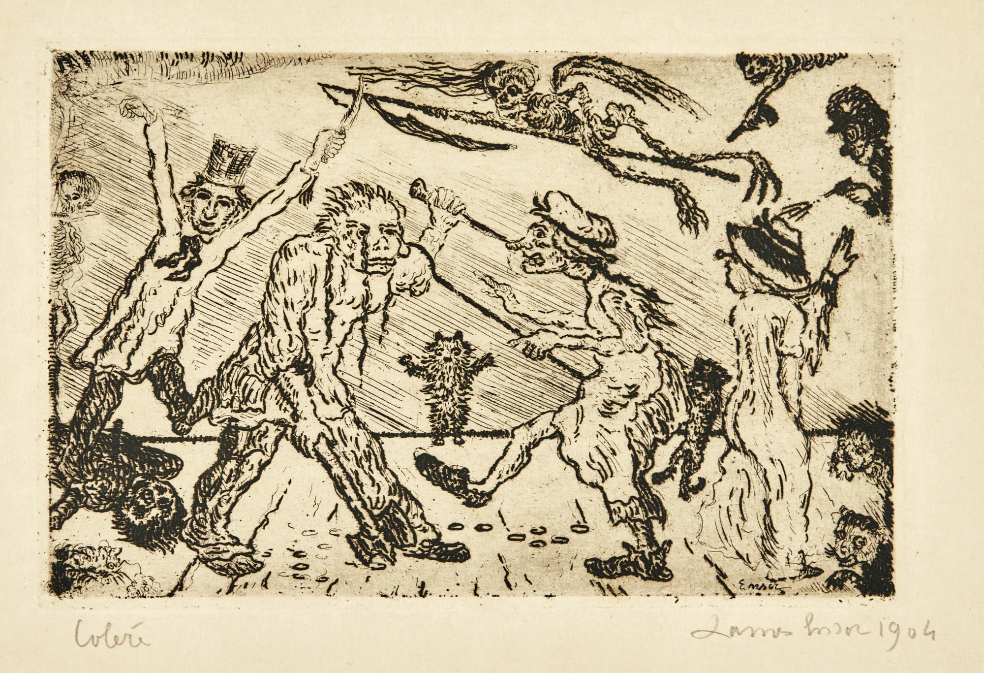 James Ensor-La ColÈRe (D. T. 121; E. 126)-1904