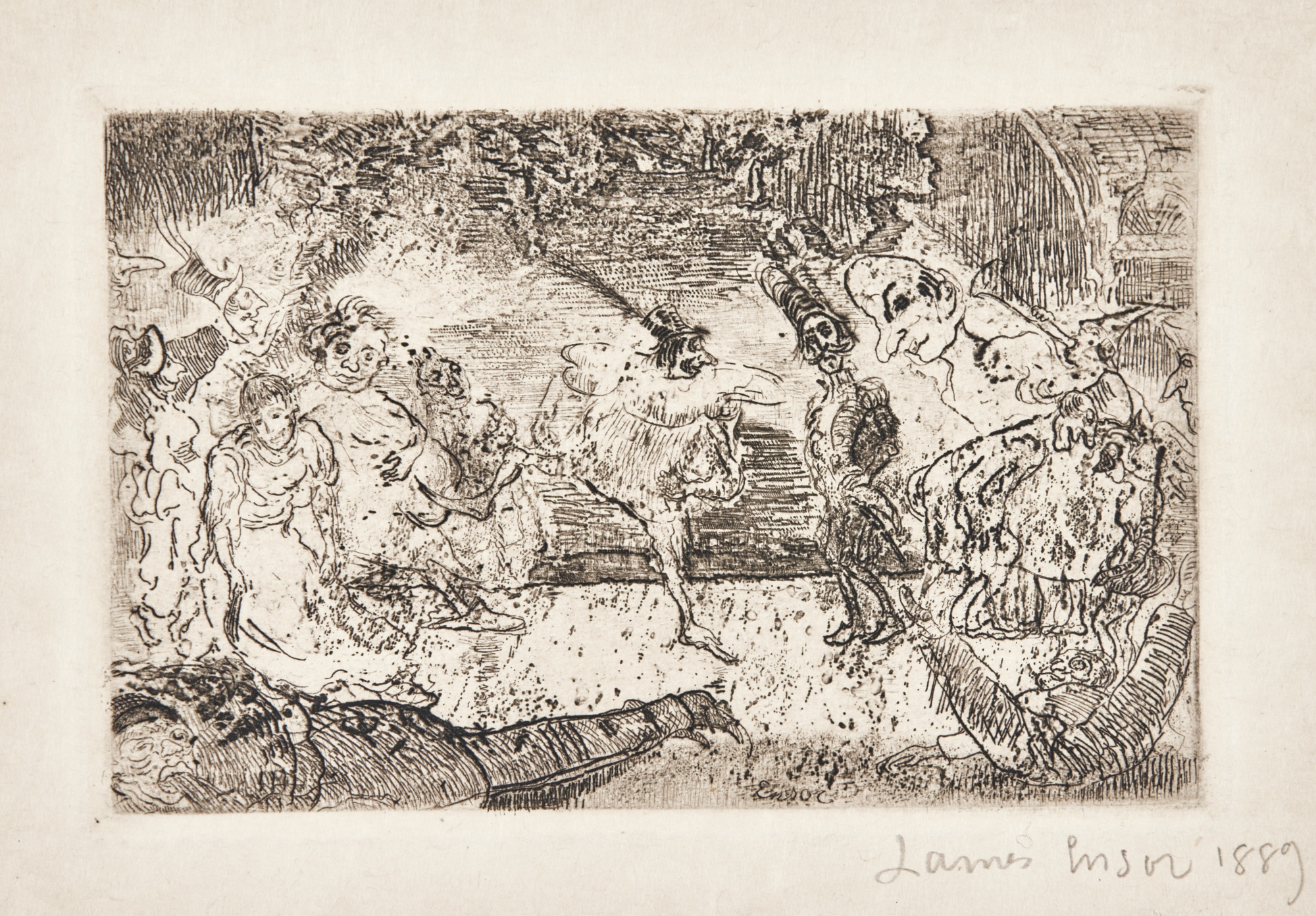 James Ensor-Le FantÔMe; And Le Bal Fantastique (D. T. E. 73 75)-1889