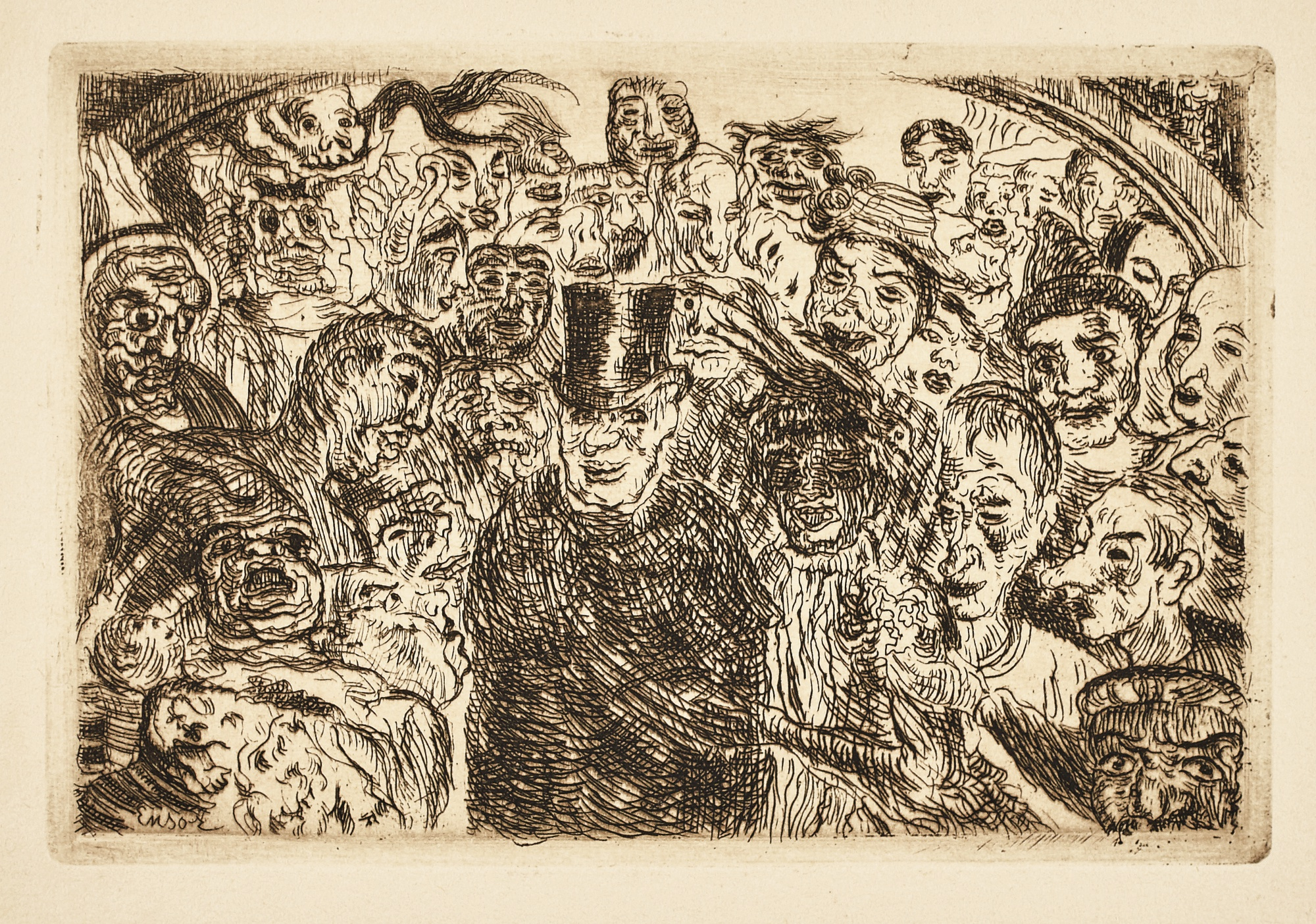 James Ensor-Masques IntriguÉS (D. T. 128; E. 133)-1904