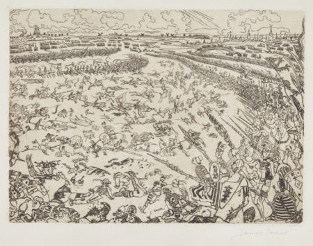 James Ensor-Bataille Des Eperons D'Or (D. 95; T. 96; E. 98)-1895