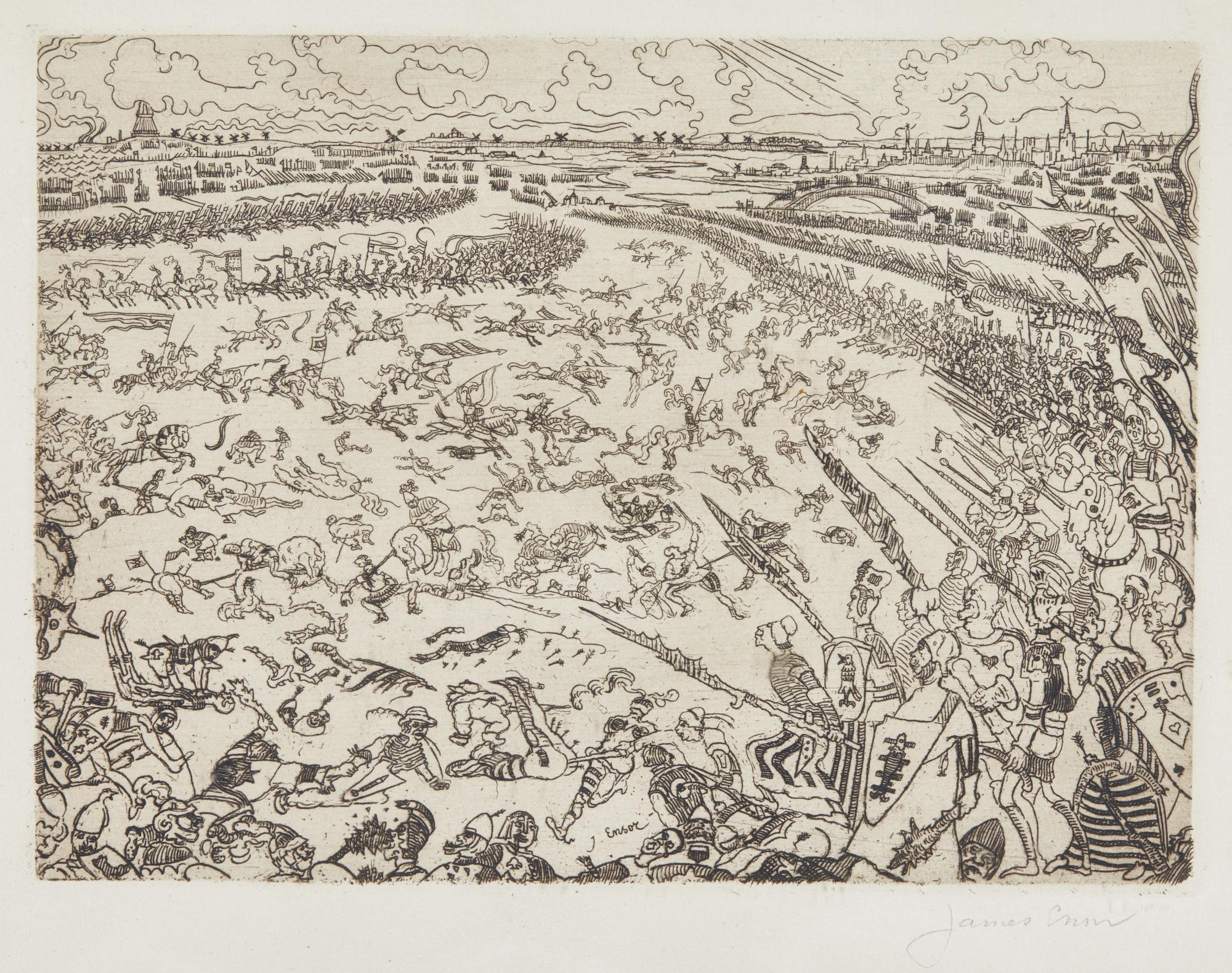 James Ensor-Bataille Des Eperons D'Or (D. 95; T. 96; E. 98)-1895