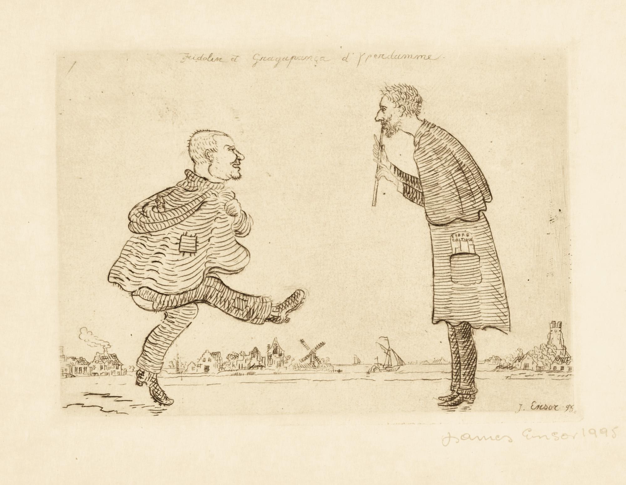 James Ensor-Fridolin Et GragapanÇA D'Yperdamme (D. 94; T. 95; E. 97); Le Combat; AndLe Sacripants (D. T.107 108; E. 109 110)-1896
