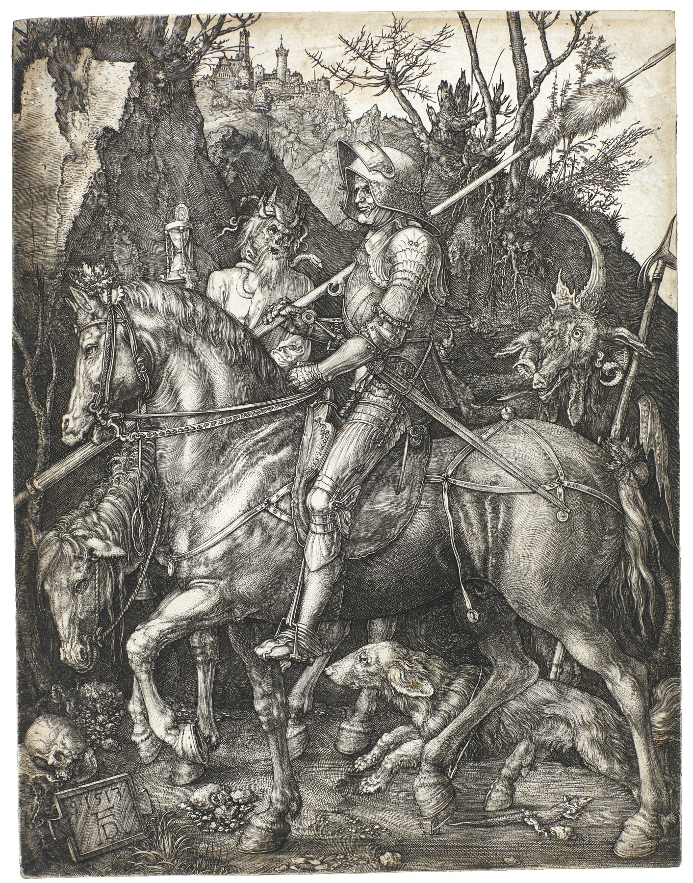 Albrecht Durer-Knight Death And The Devil (B. 98; M. Holl. 74)-1513