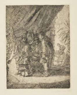 James Ensor-Iston Pouffamatus Cracozie Et Transmouffe Celebres MÉDecins Persans Examinant Les Selles Du Roi Darius AprÈS La Bataille D'Arbelles (D.T.E.6)-1886