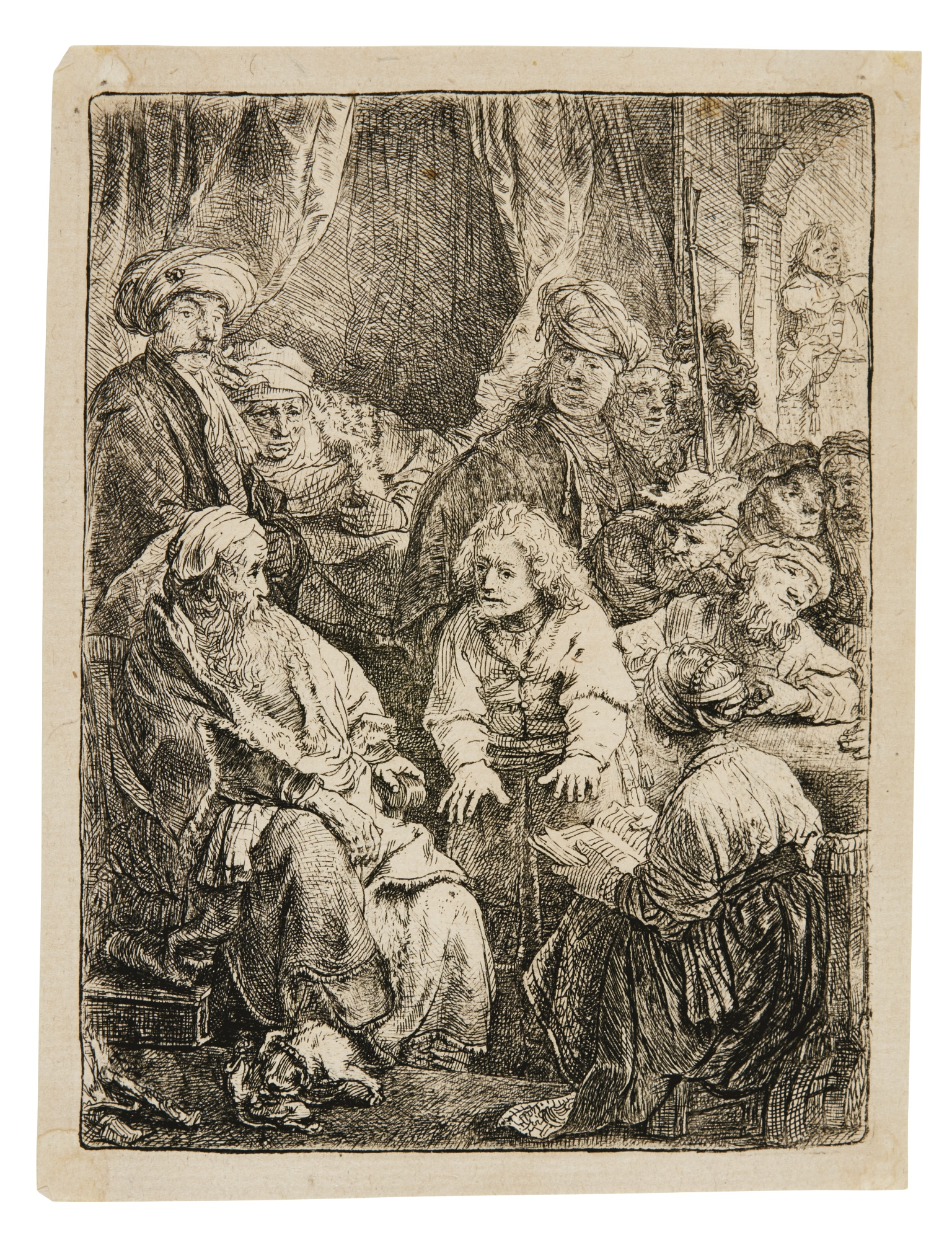 Rembrandt van Rijn-Joseph Telling His Dreams; And Menasseh Ben Israel (B. Holl. 37 269; New Holl. 167 156; H. 160 146)-1638