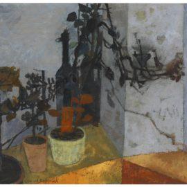 Leonard Rosoman-Still Life With Pot Plants And Bottle-1954