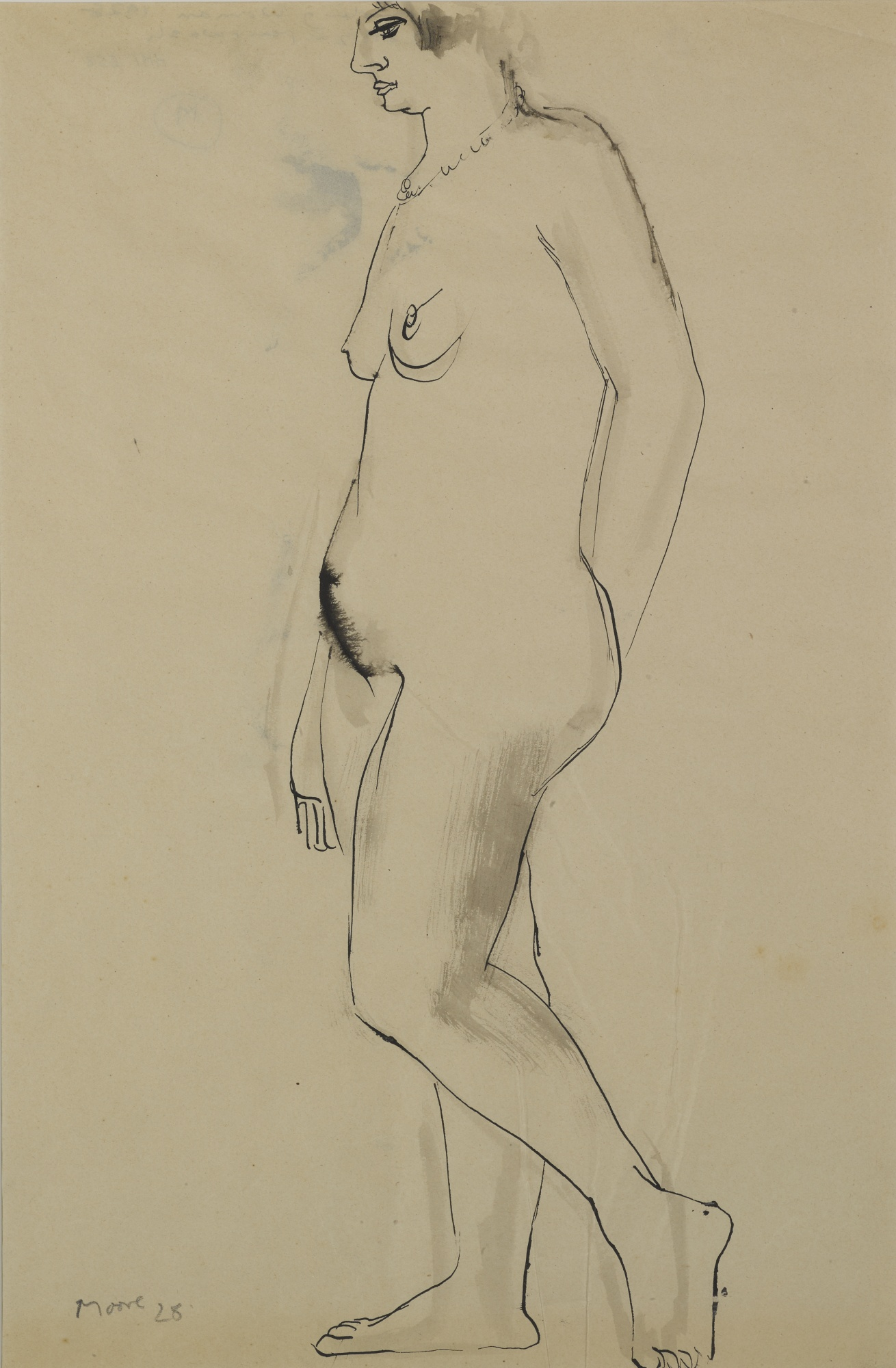 Henry Moore-Standing Woman-1928