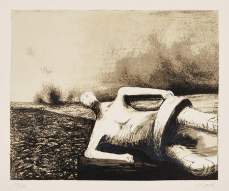Henry Moore-Male Figure In Landscape (C. 470)-1978