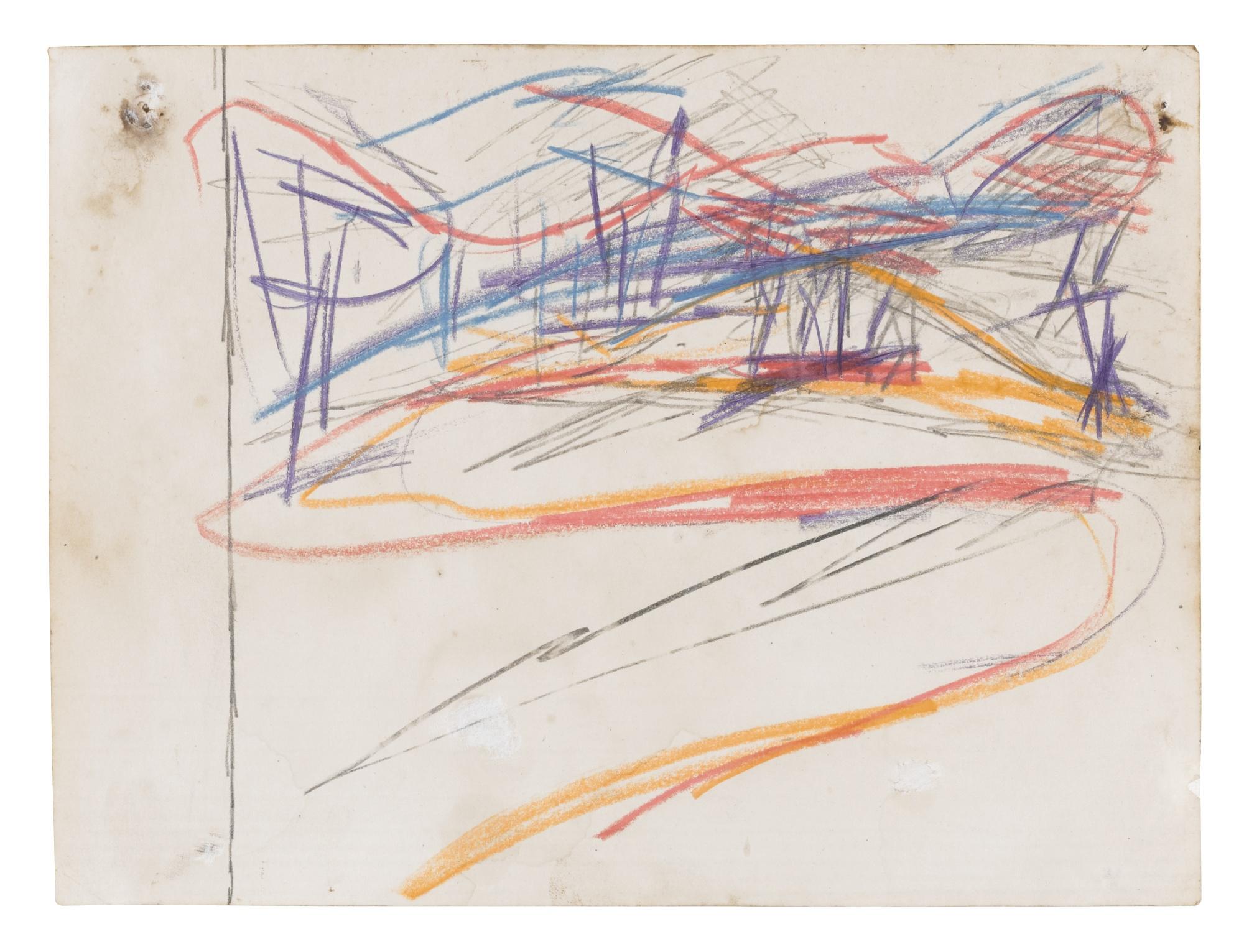 Frank Auerbach-Primrose Hill-1960