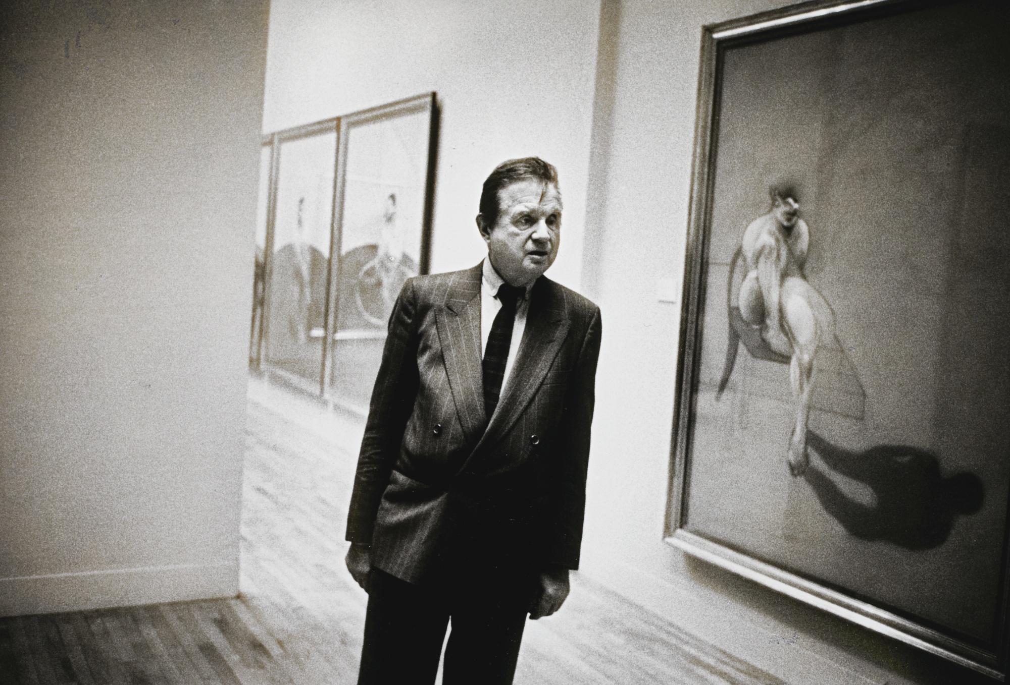 Neil Libbert-Francis Bacon At His Tate Show London May 1985-