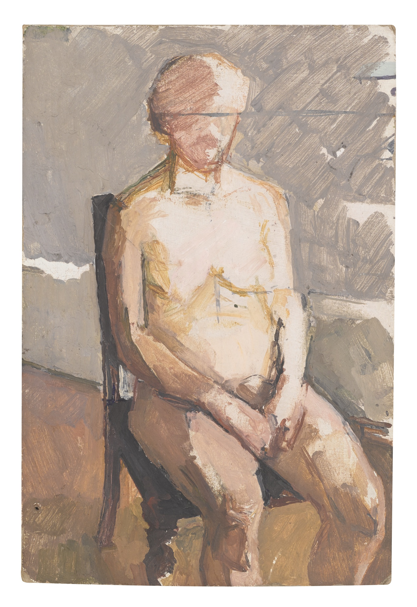 Euan Uglow-Seated Nude-1950