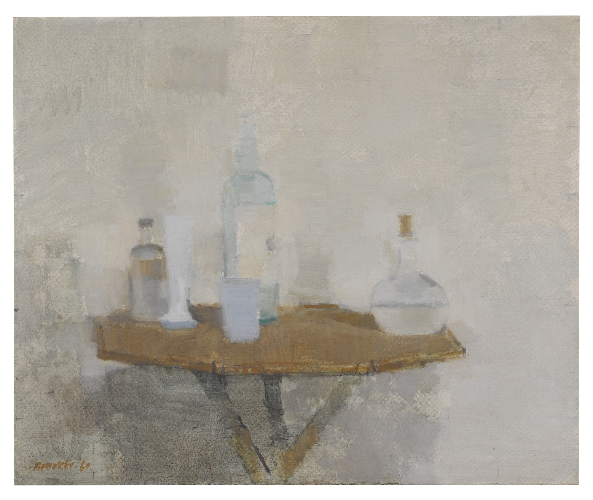 William Brooker-Still Life: Objects On A Bamboo Table-1960
