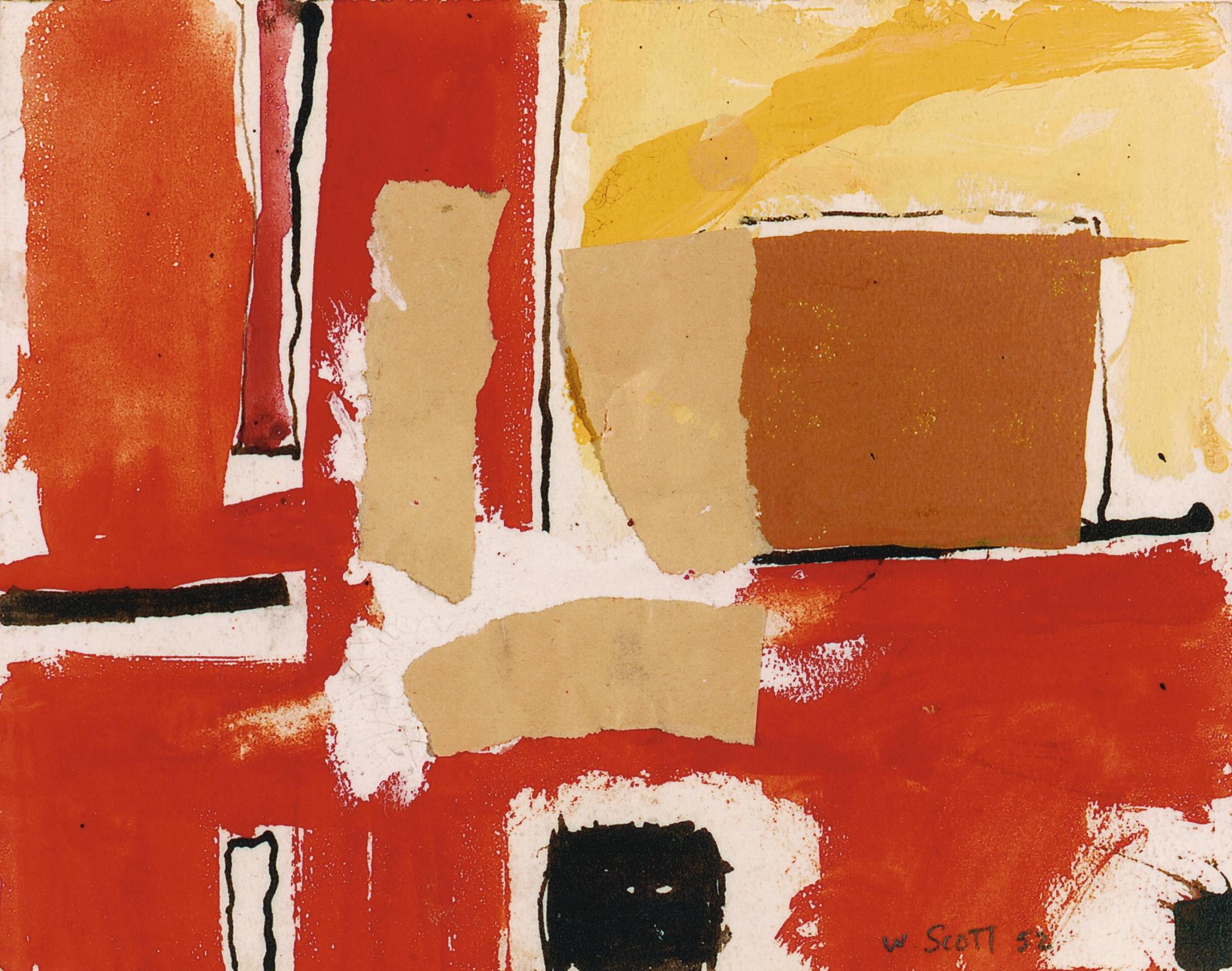 William Scott-Gouache No.9-1952