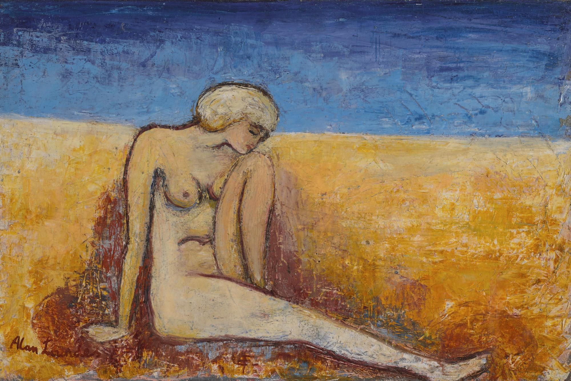 Alan Lowndes-Nude On Seashore-1956