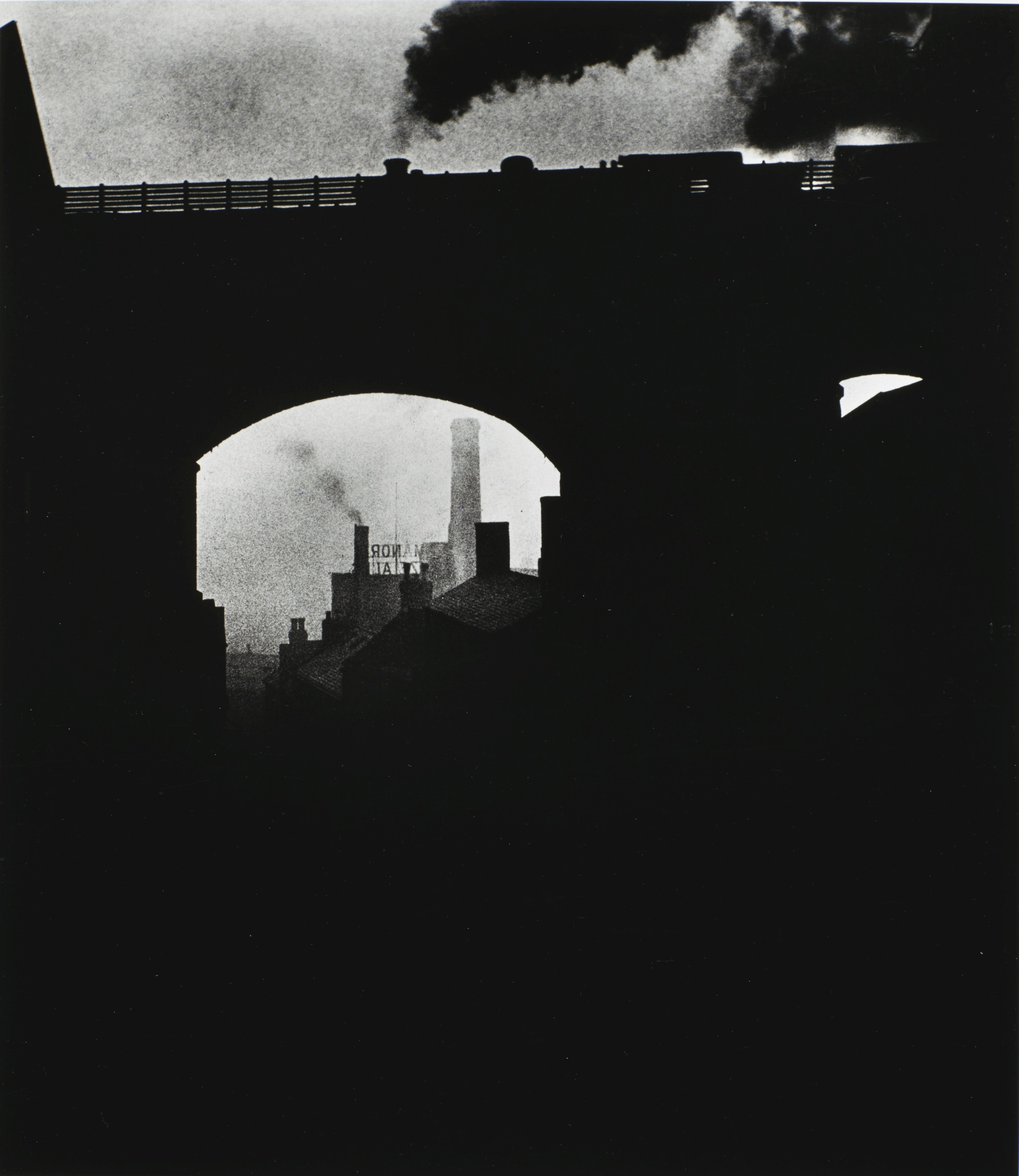 Bill Brandt-Train Leaving Newcastle 1937-