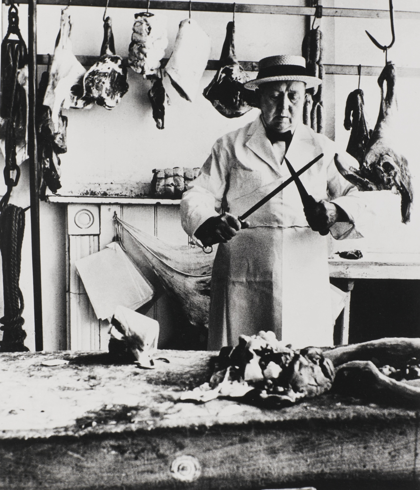 Bill Brandt-Butcher At Notting Hill Gate London 1932-