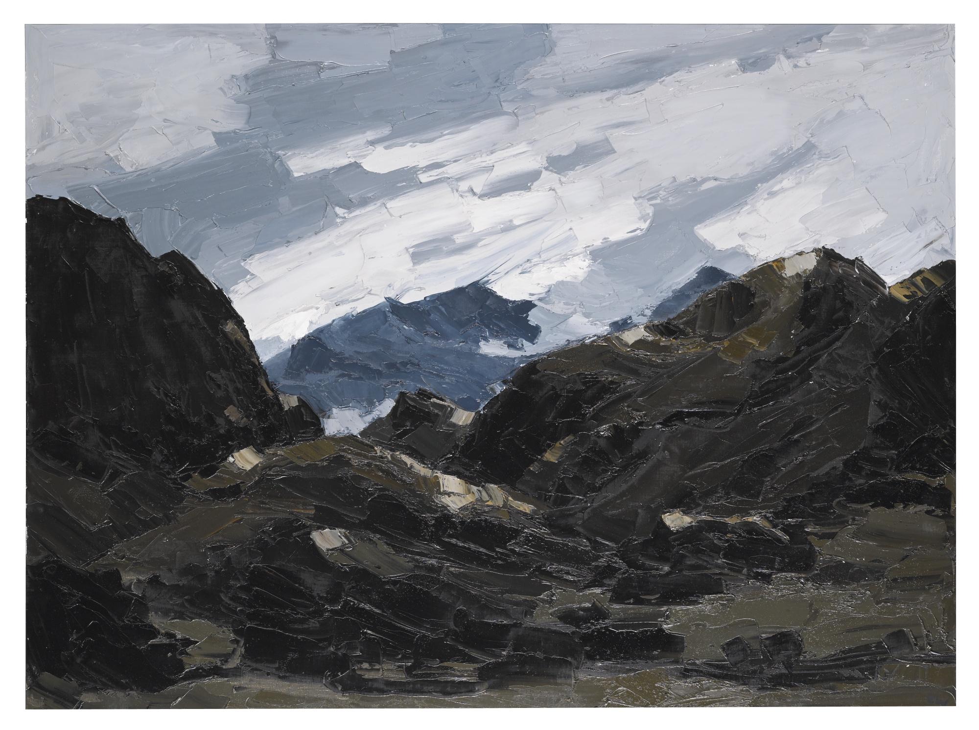 Kyffin Williams-Mount Snowdon From Nantlle-