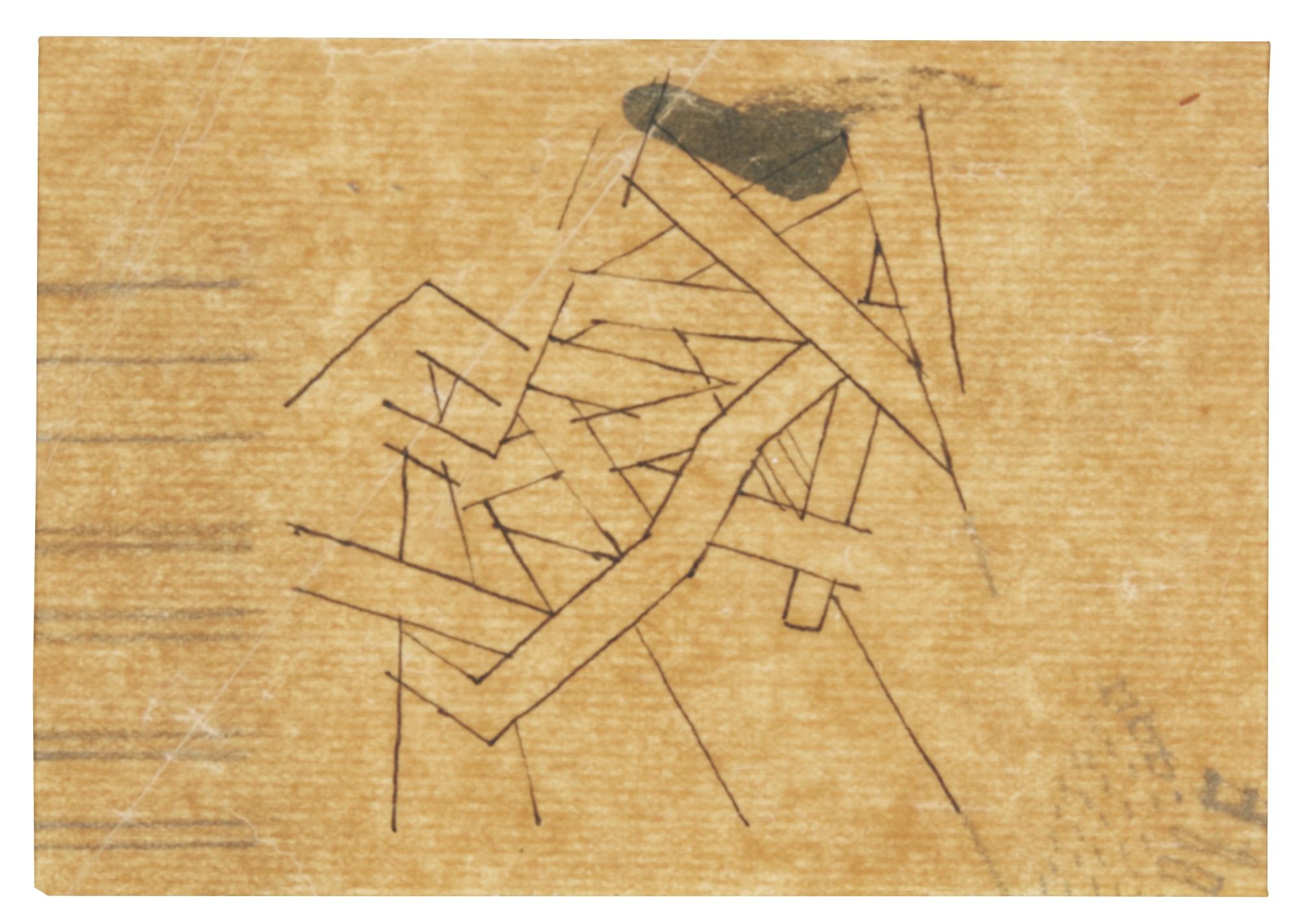 David Bomberg-Study For The Mud Bath-1914