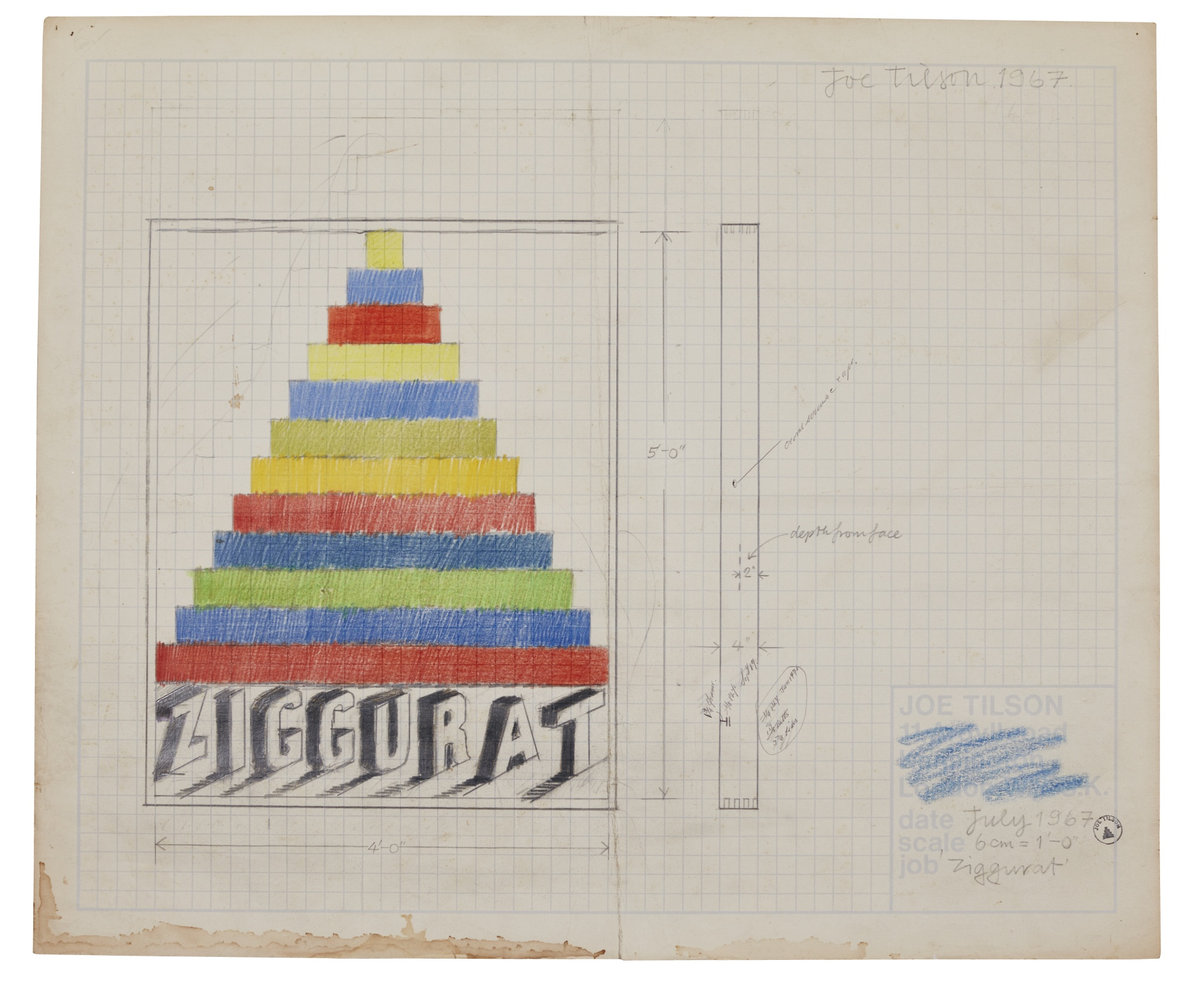 Joe Tilson-Design For Ziggurat-1967