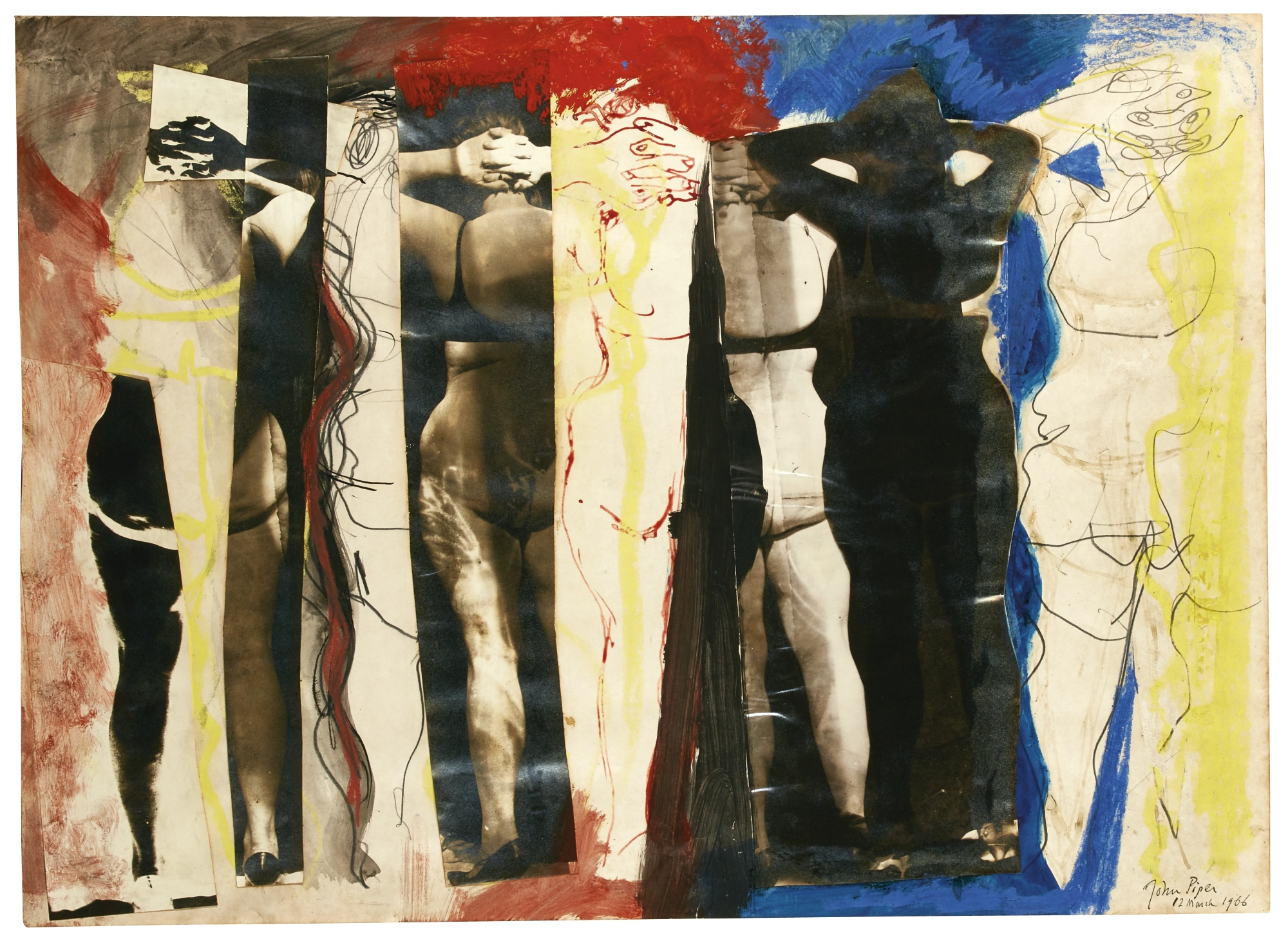 John Piper-Composition With Nudes-1966