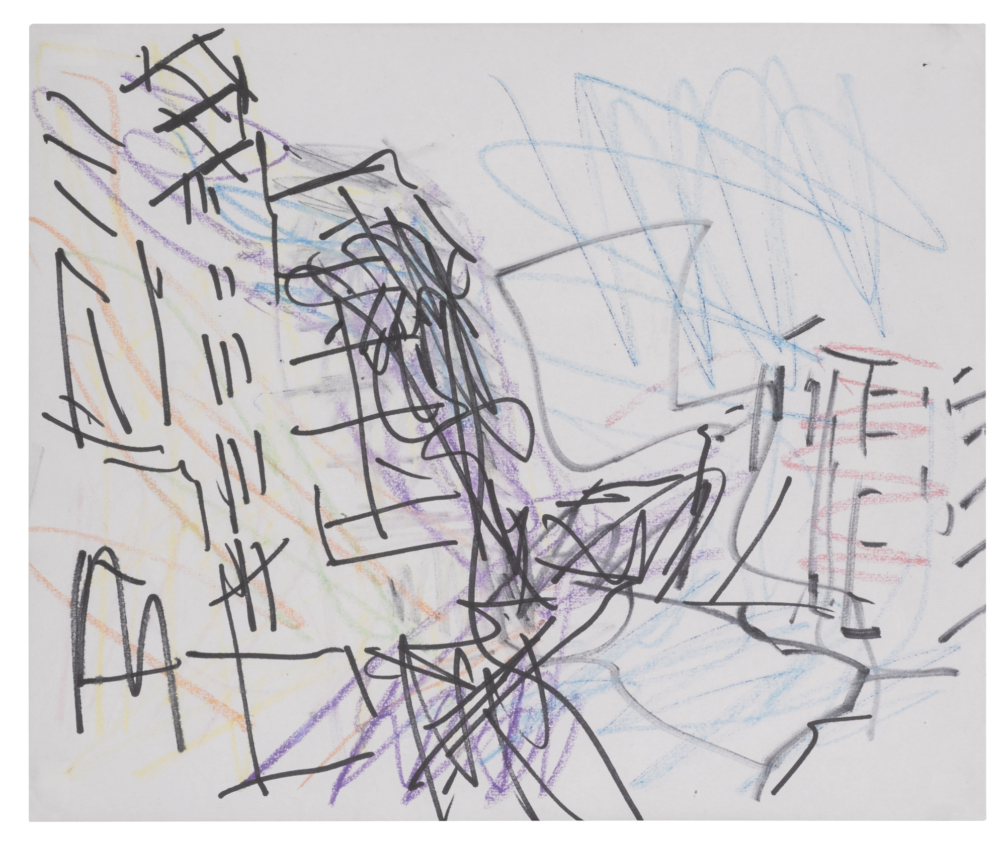 Frank Auerbach-Study For Mornington Crescent-1988