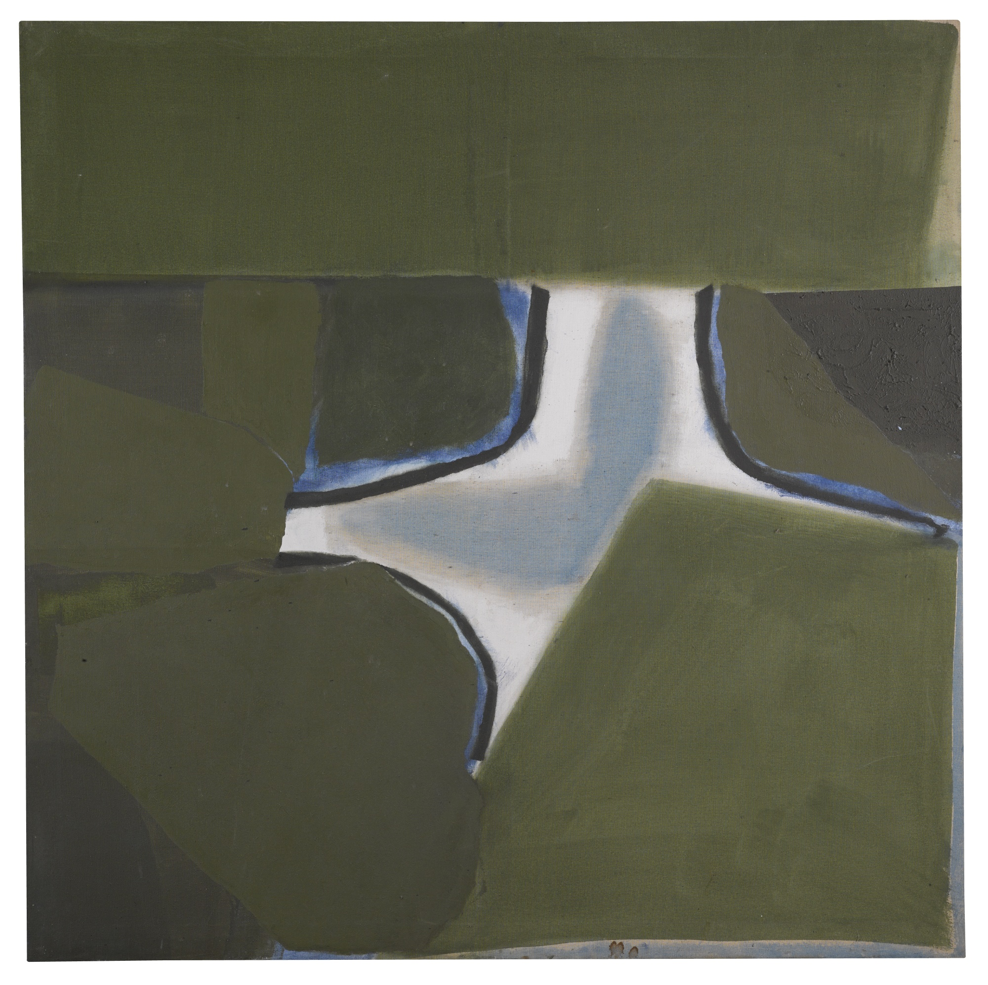 Sandra Blow-Green Painting-1980