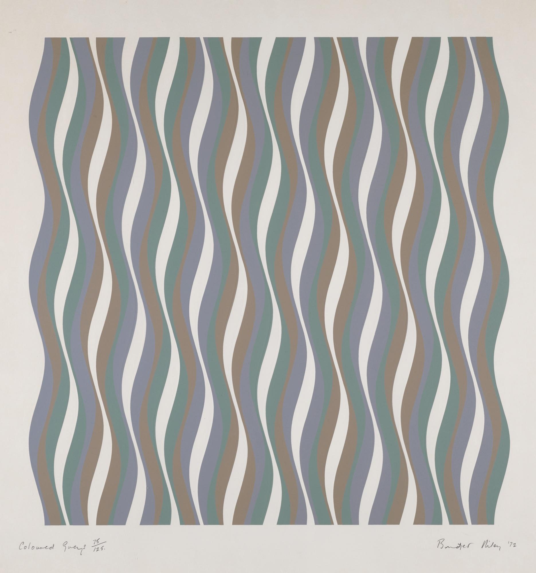 Bridget Riley-Coloured Greys [1] (S. 16)-1972