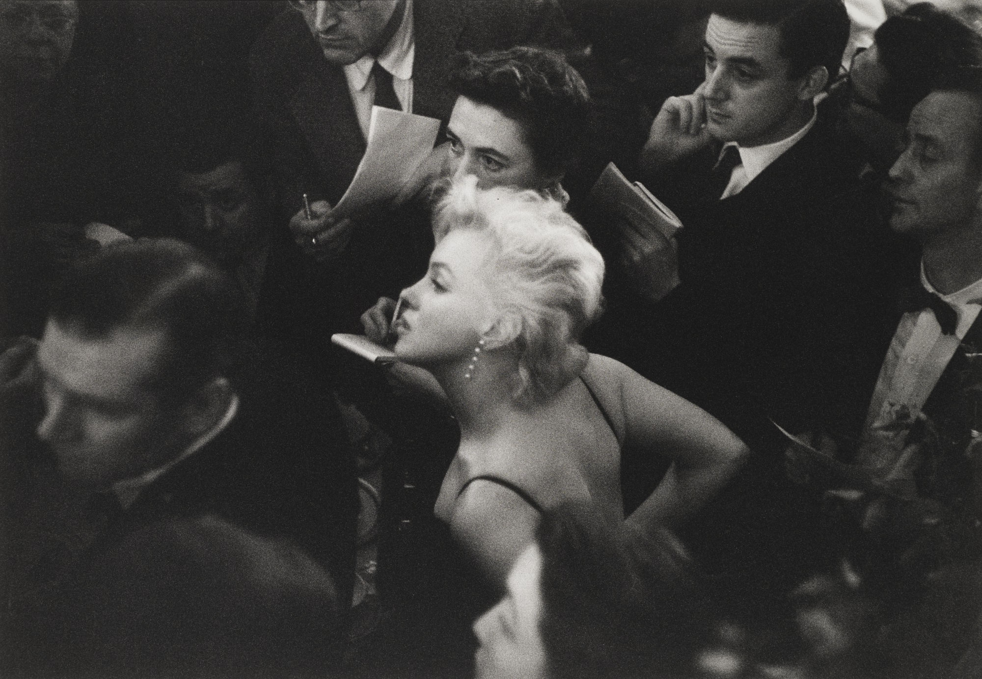 Eve Arnold-Press Meeting At The Ritz For The Prince And The Showgirl 1957-